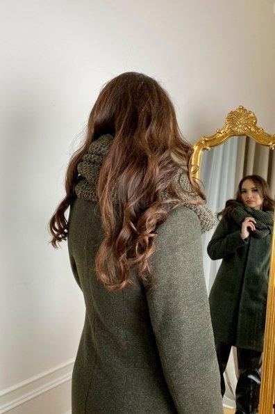 Зимнее пальто с шарфом Сплит 5834 Цвет: Хаки
