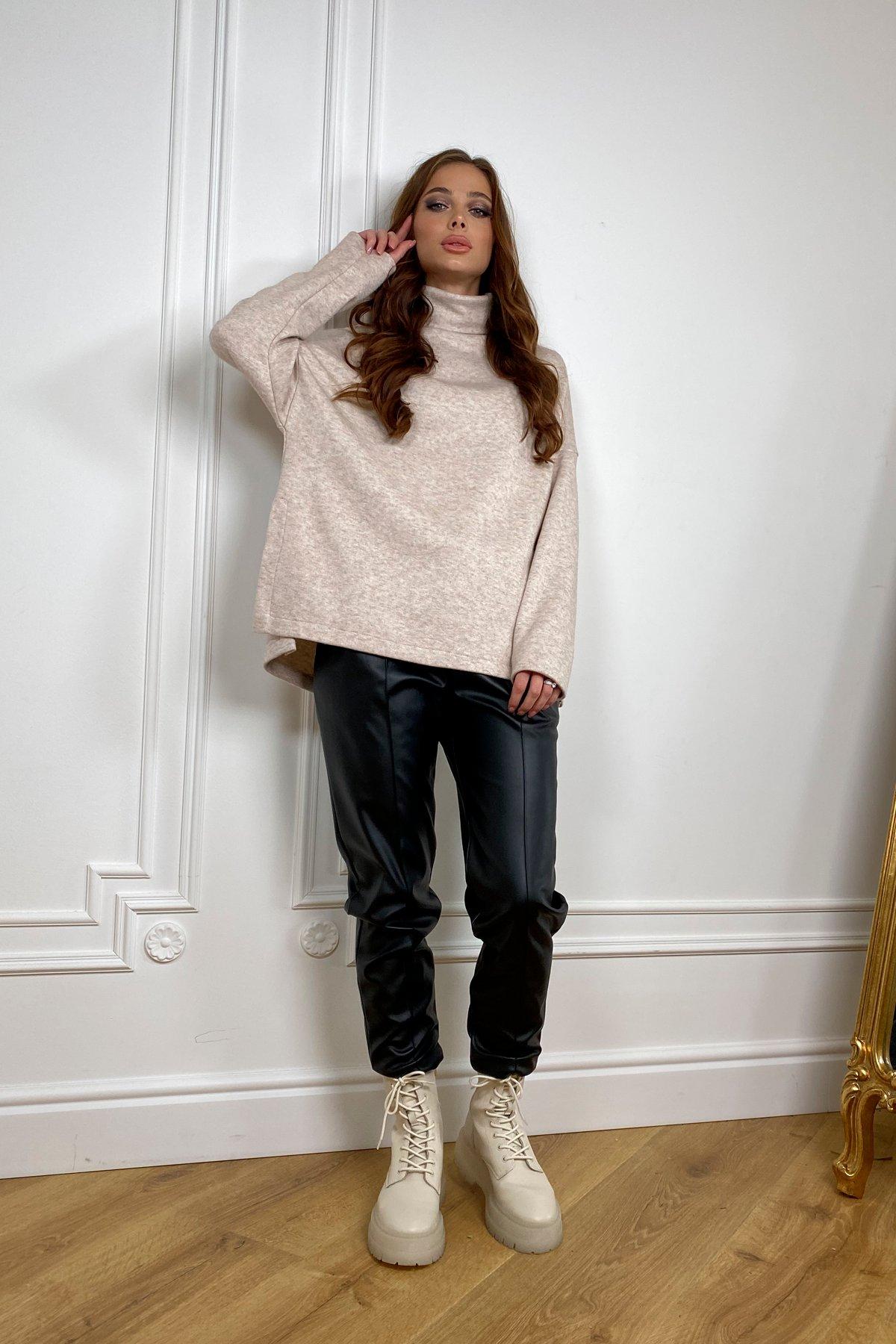 Лав Ю трикотаж ангора  свитер 10046 АРТ. 46339 Цвет: Бежевый 2 - фото 2, интернет магазин tm-modus.ru