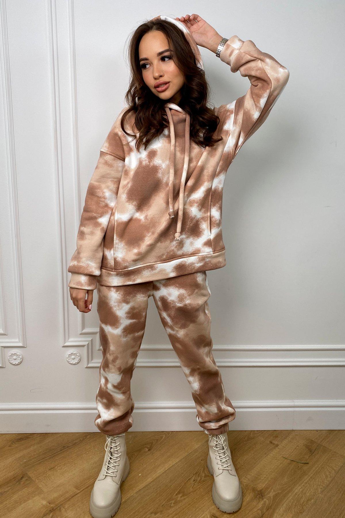 Женская одежда от производителя Modus Тай Дай трикотаж 3х нитка с начесом прогулочный костюм 10241