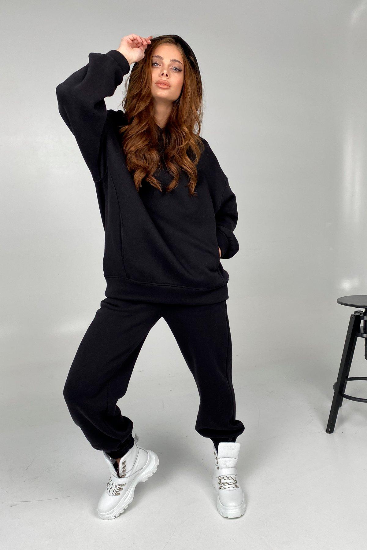 Марион костюм в  стиле Oversize  3х нитка 9651 АРТ. 45953 Цвет: Черный - фото 3, интернет магазин tm-modus.ru