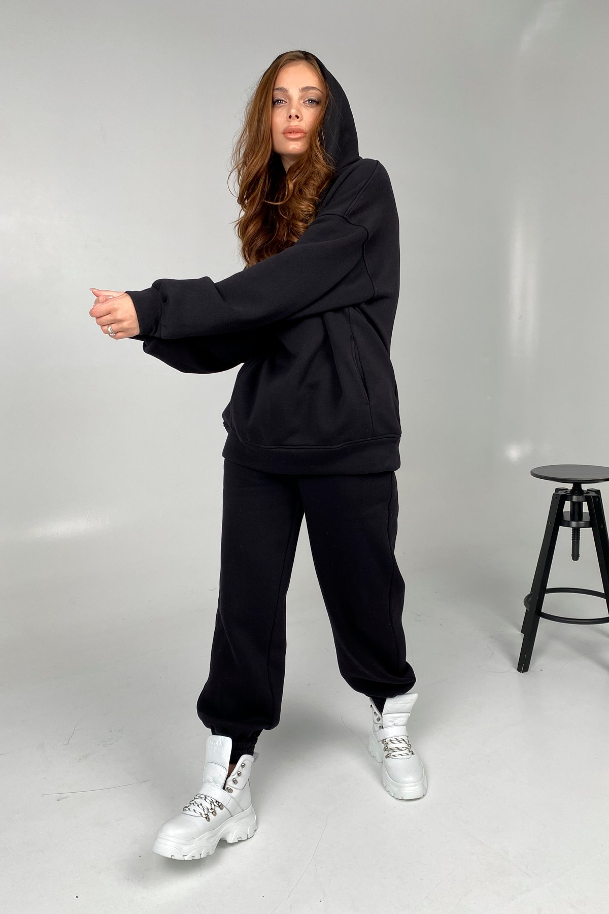 Марион костюм в  стиле Oversize  3х нитка 9651 АРТ. 45953 Цвет: Черный - фото 5, интернет магазин tm-modus.ru