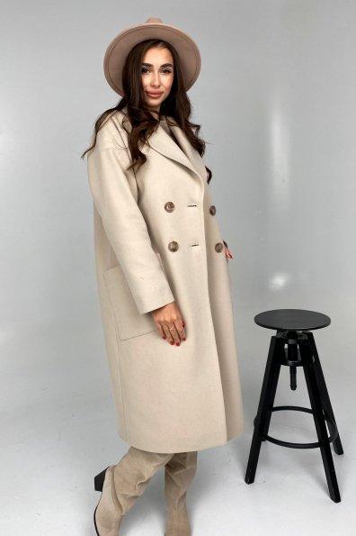 Купити Свайп макси пальтовая ткань кашемир Турция зима Хомут пальто 10118 оптом і в роздріб