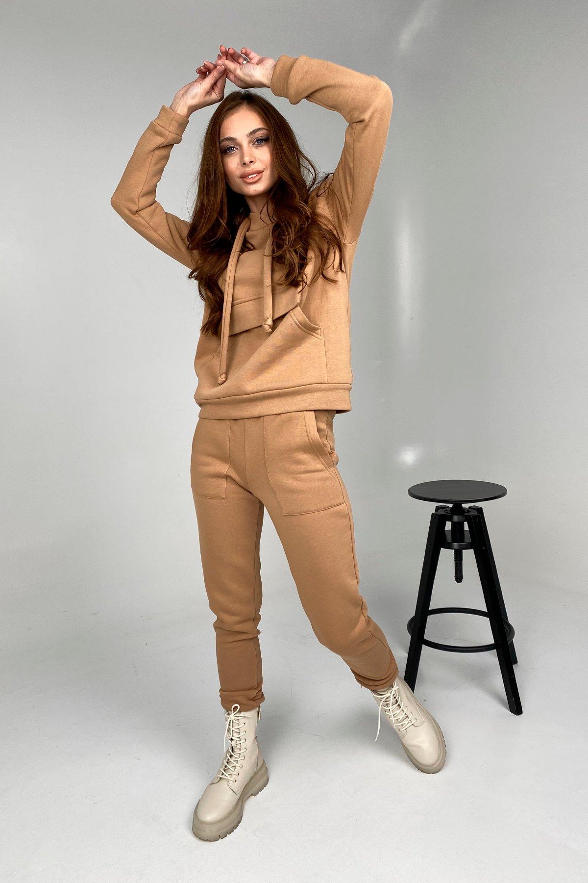 Купить женскую одежду оптом Бруклин трикотаж 3х нитка с начесом прогулочный костюм 9663