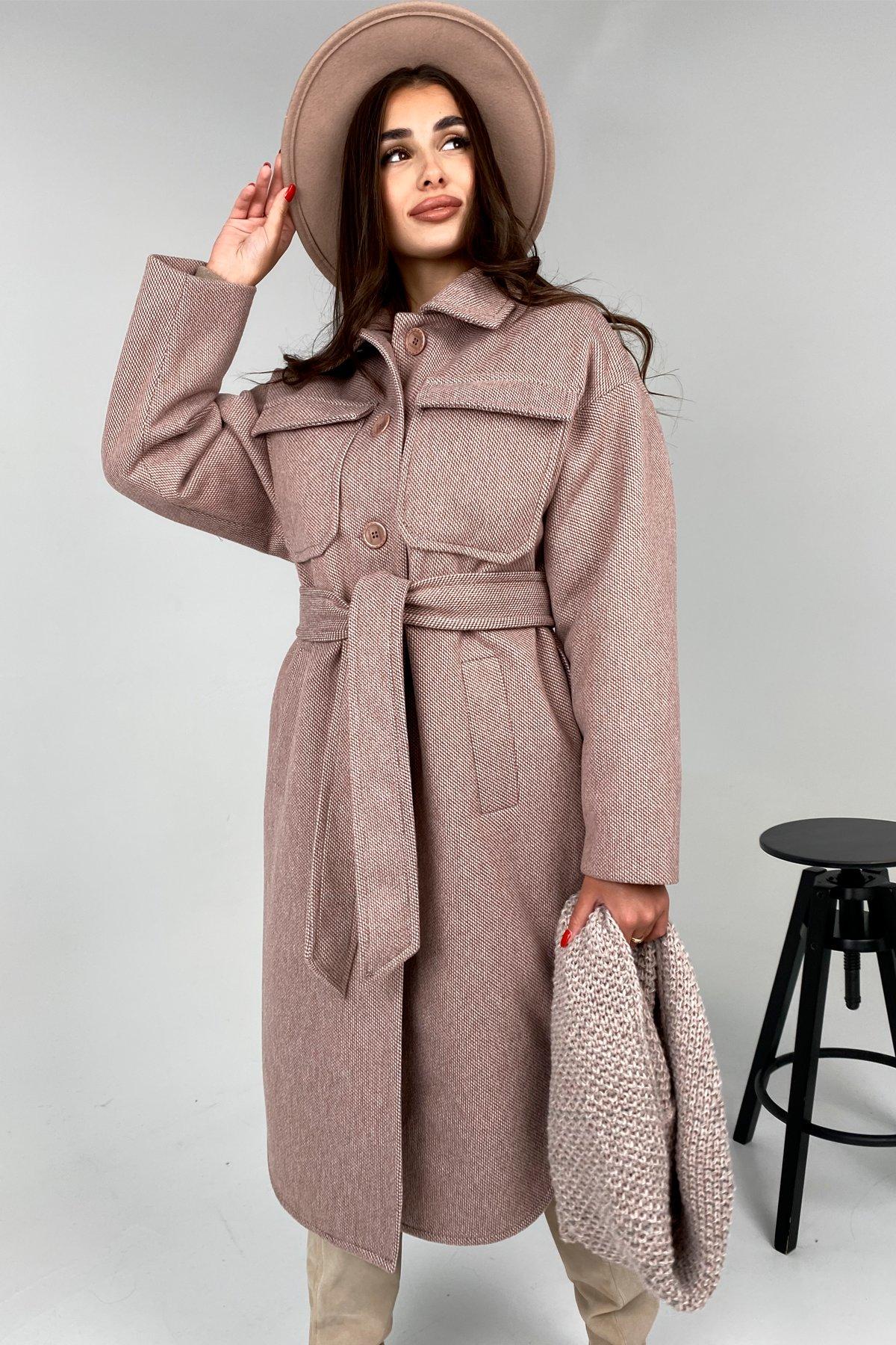 Зимнее пальто в Украине Ола модена пальтовая ткань зима Шарф пальто 10217