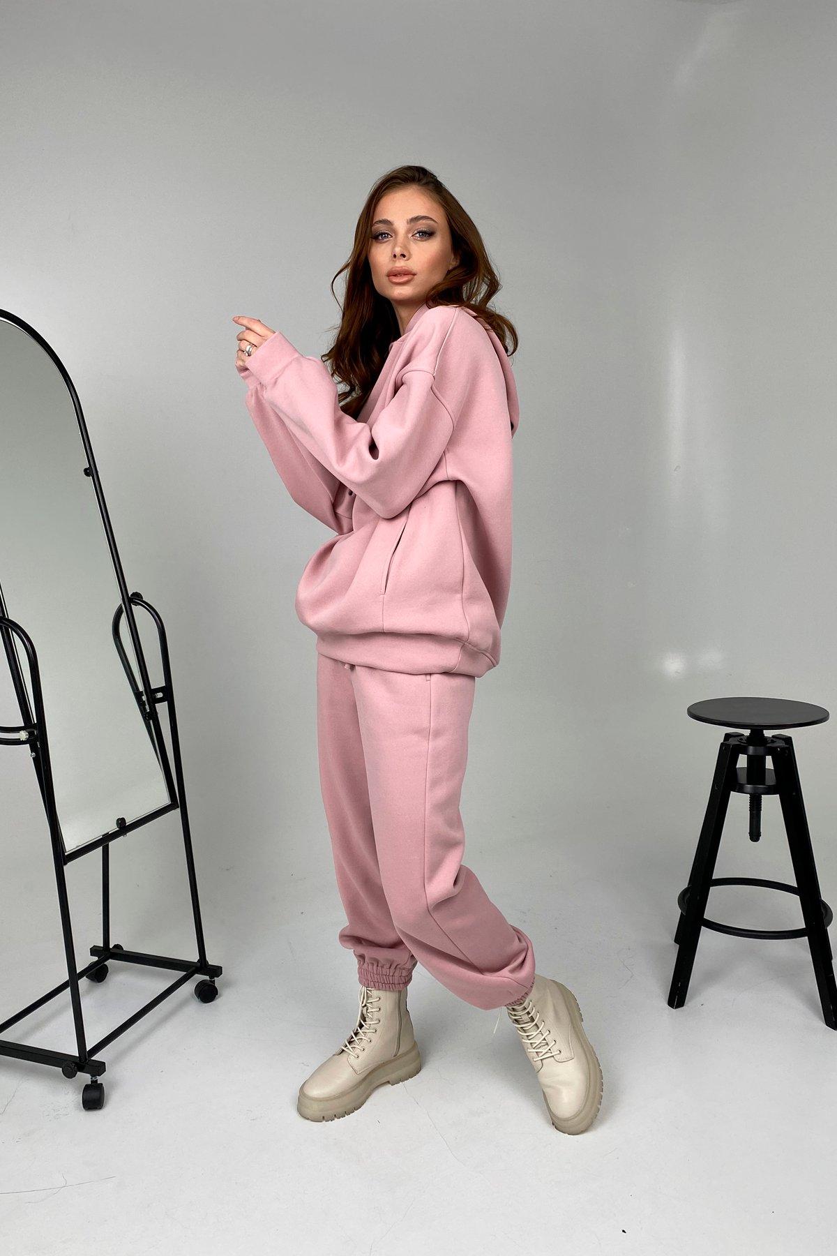 Марион костюм в  стиле Oversize  3х нитка 9651 АРТ. 46494 Цвет: Пудра 1 - фото 1, интернет магазин tm-modus.ru