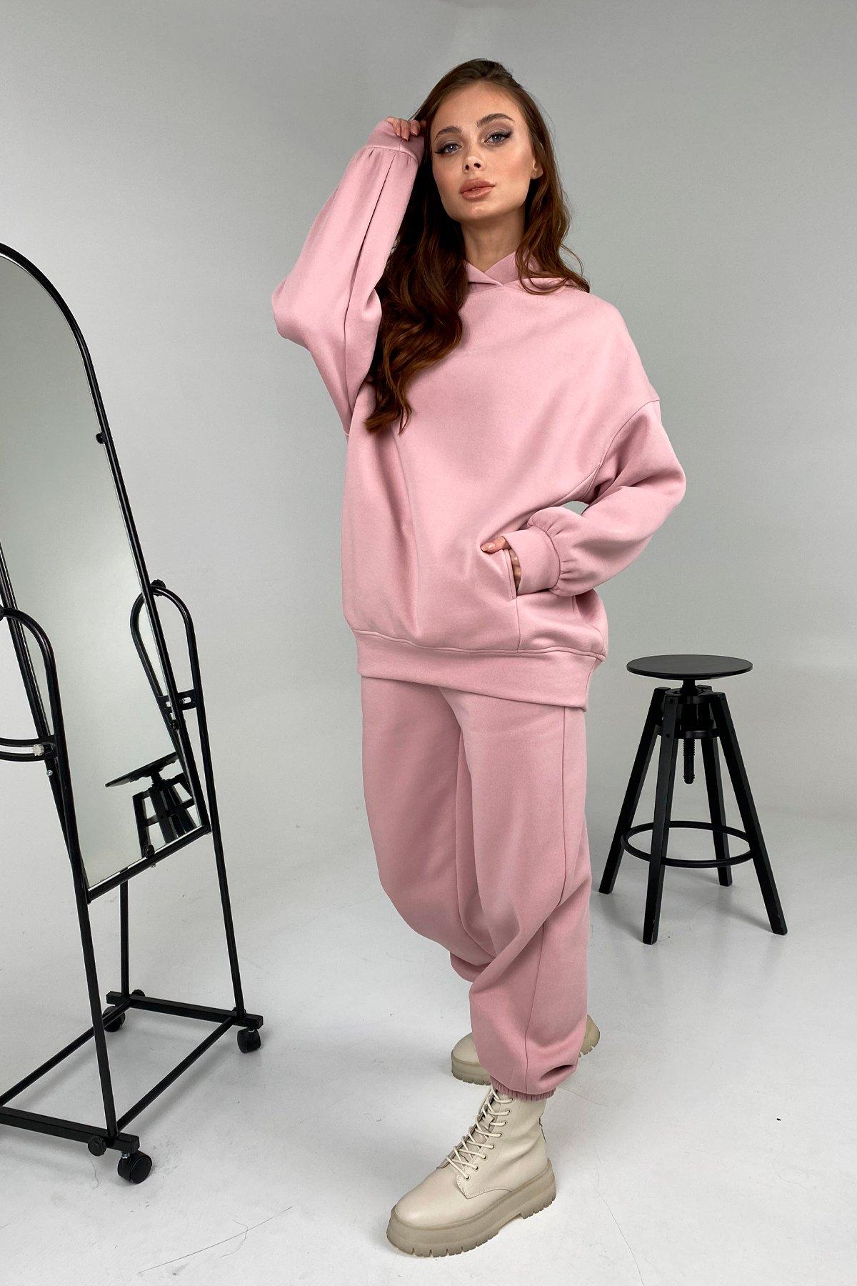 Марион костюм в  стиле Oversize  3х нитка 9651 АРТ. 46494 Цвет: Пудра 1 - фото 5, интернет магазин tm-modus.ru