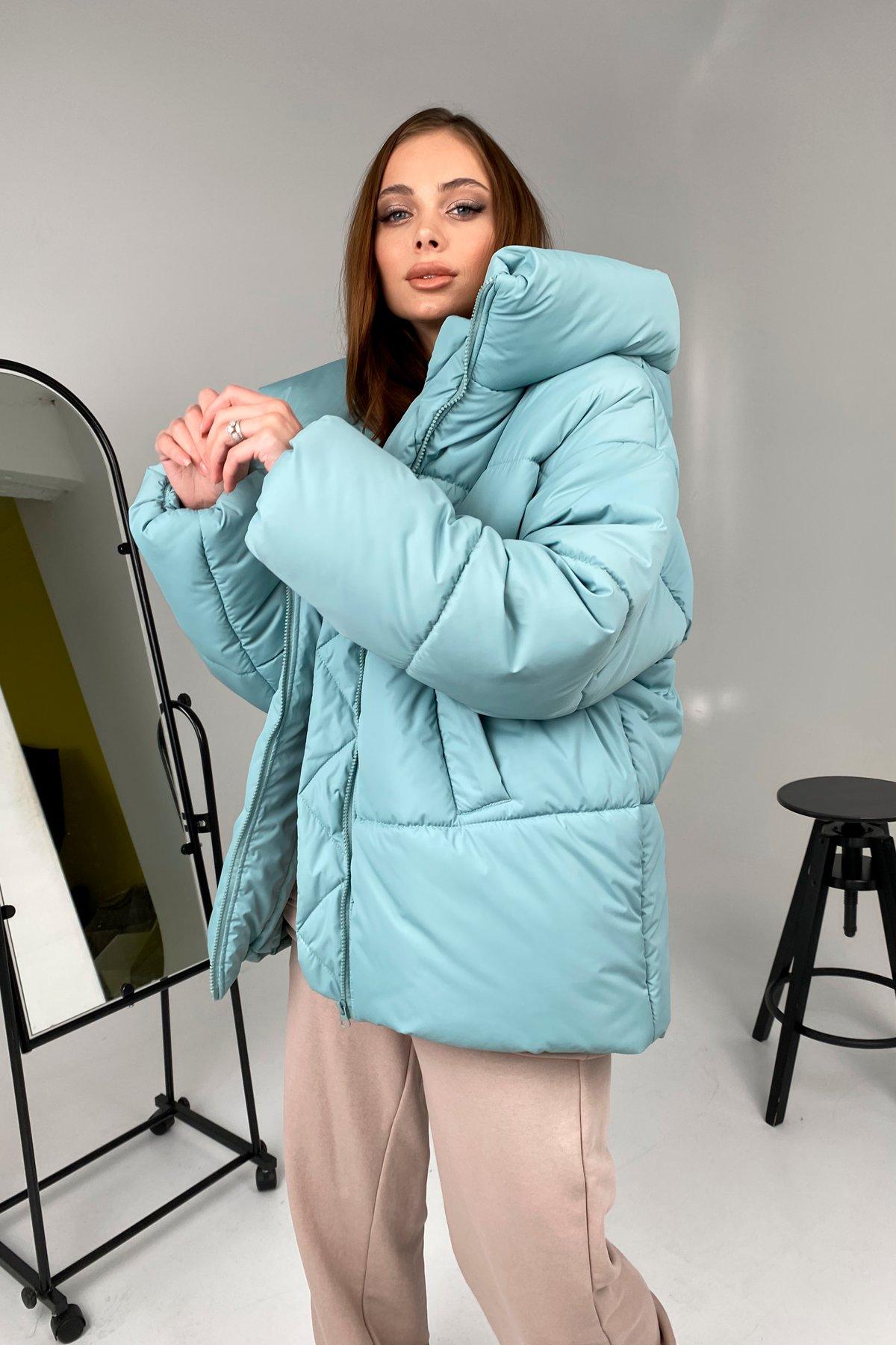 куртки демисезонные женские Харьков  Овертайм  теплый пуховик из плащевой ткани 10243