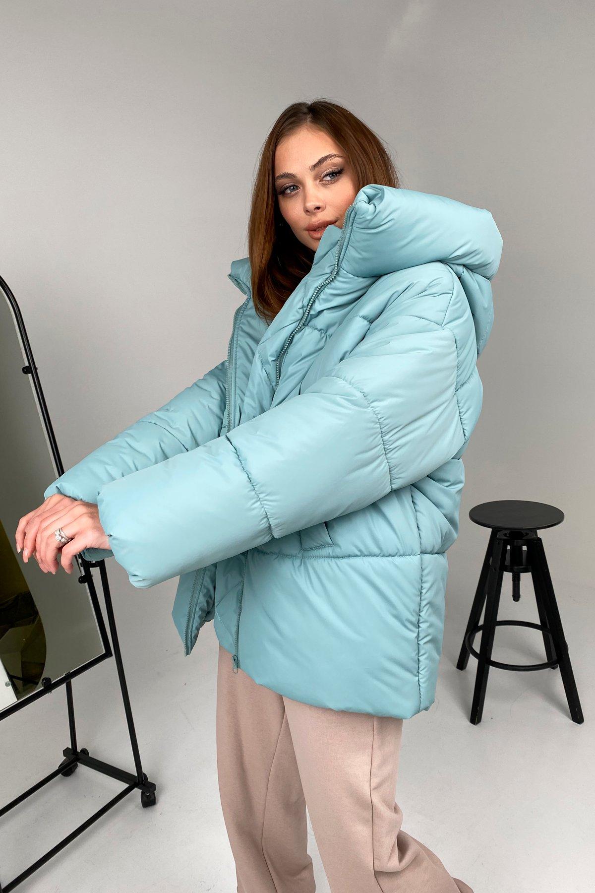 Овертайм  теплый пуховик из плащевой ткани 10243 АРТ. 46535 Цвет: Олива 756 - фото 6, интернет магазин tm-modus.ru