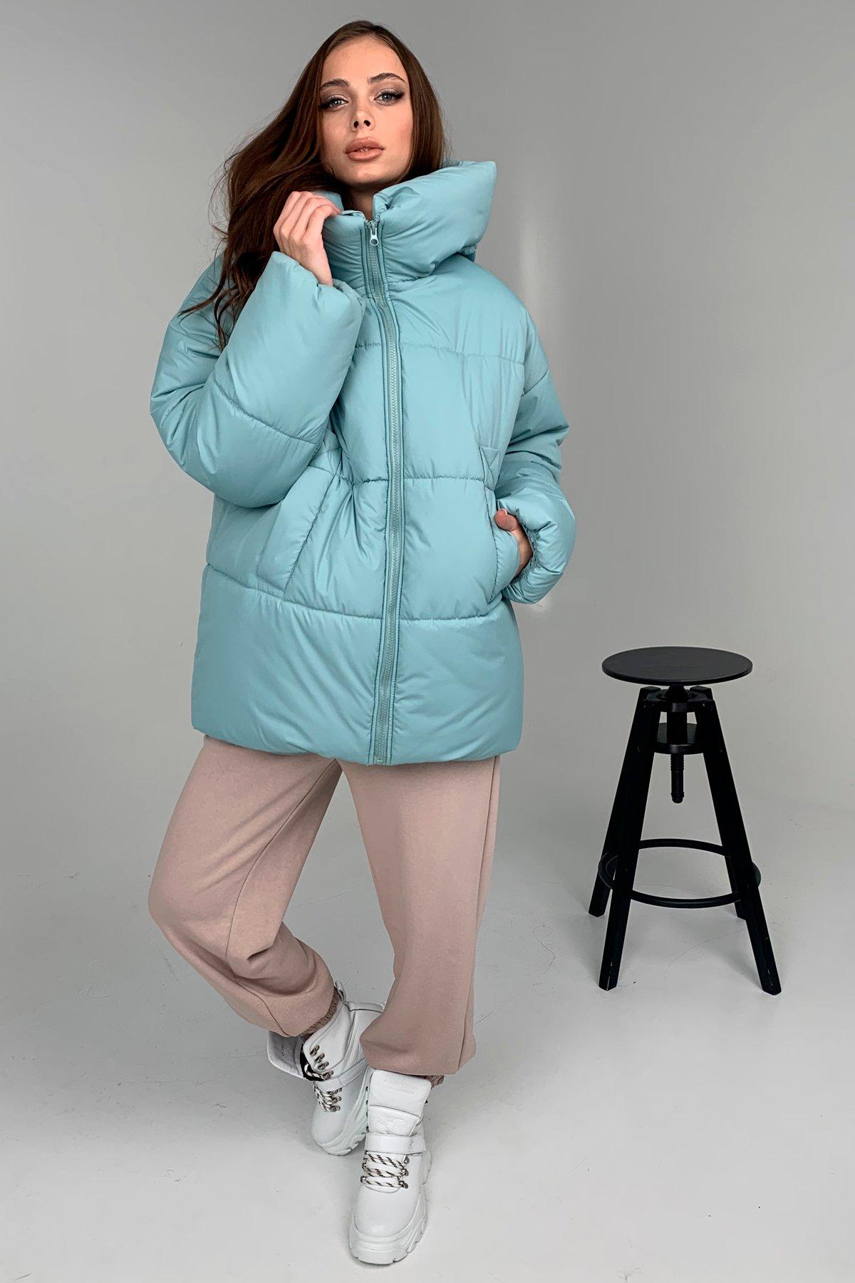 Овертайм  теплый пуховик из плащевой ткани 10243 АРТ. 46535 Цвет: Олива 756 - фото 8, интернет магазин tm-modus.ru