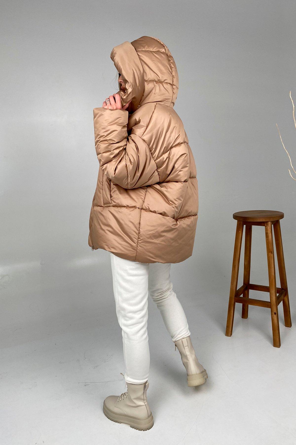 Овертайм  теплый пуховик из матовой плащевой ткани 10245 АРТ. 46536 Цвет: Кемел - фото 5, интернет магазин tm-modus.ru