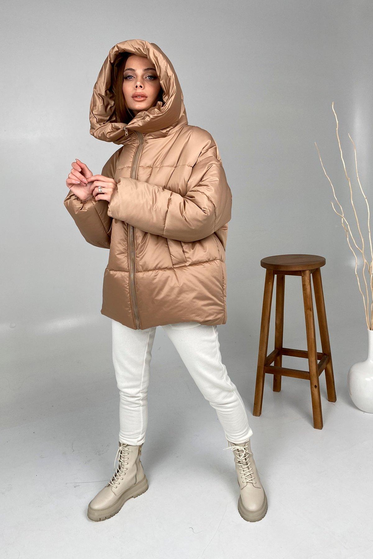Овертайм  теплый пуховик из матовой плащевой ткани 10245 АРТ. 46536 Цвет: Кемел - фото 6, интернет магазин tm-modus.ru