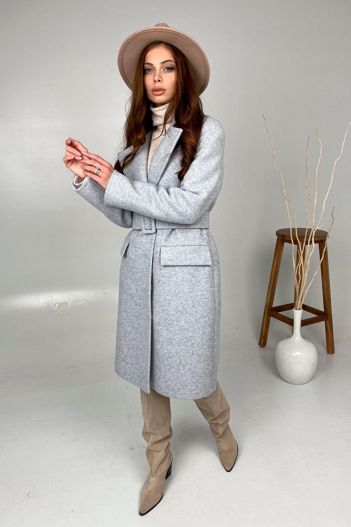 Зимнее пальто с отложным воротником Моле 8085 АРТ. 44035 Цвет: Серый Светлый 33 - фото 1, интернет магазин tm-modus.ru