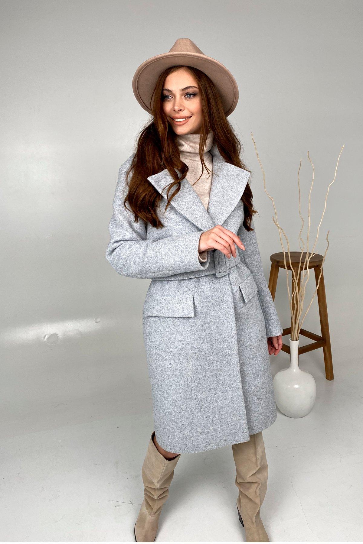 Зимнее пальто с отложным воротником Моле 8085 АРТ. 44035 Цвет: Серый Светлый 33 - фото 2, интернет магазин tm-modus.ru