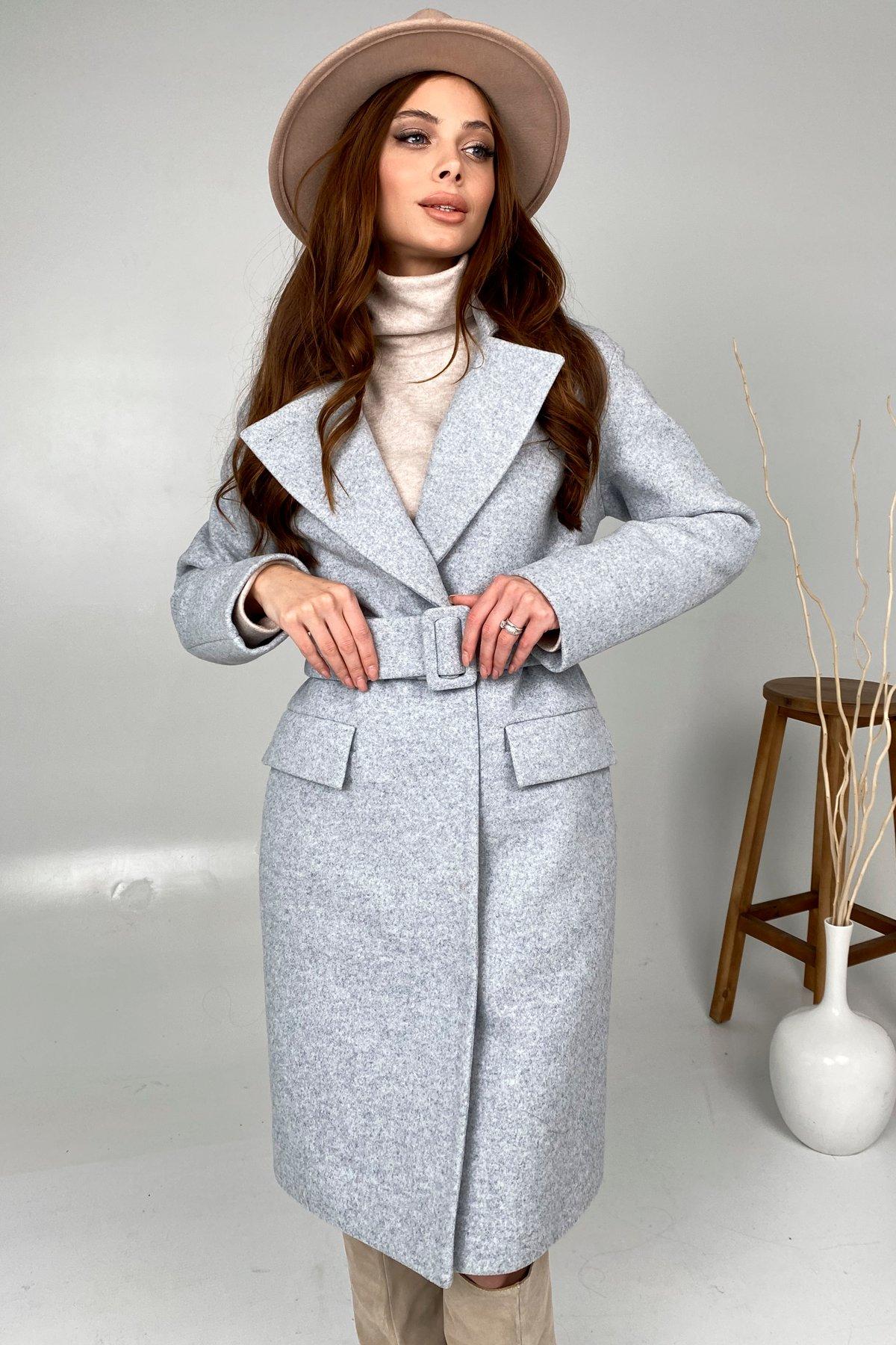 Зимнее пальто с отложным воротником Моле 8085 АРТ. 44035 Цвет: Серый Светлый 33 - фото 4, интернет магазин tm-modus.ru
