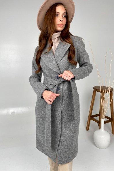 Классическое пальто Габриэлла 7872 Цвет: Серый 18