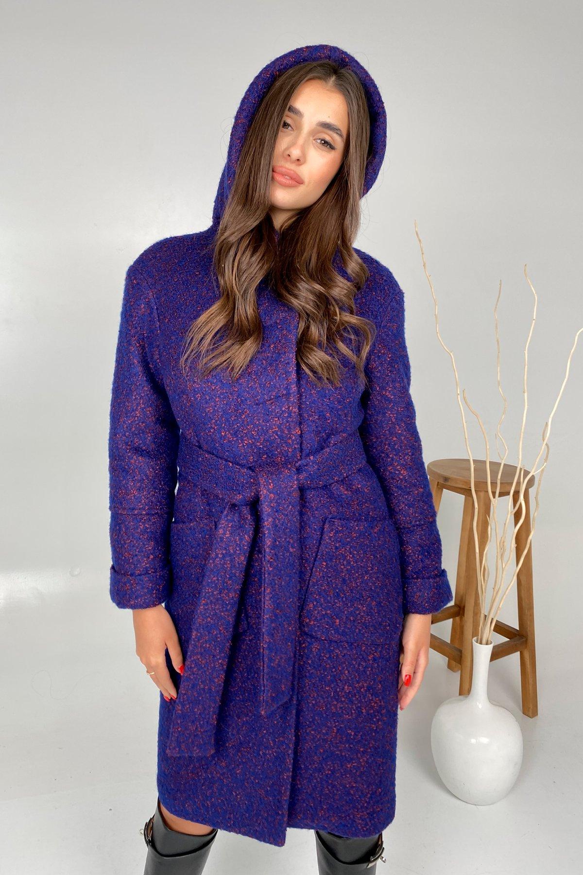 Пальто зима шерсть букле Анита 8320 АРТ. 44770 Цвет: Т.синий/марсал - фото 3, интернет магазин tm-modus.ru