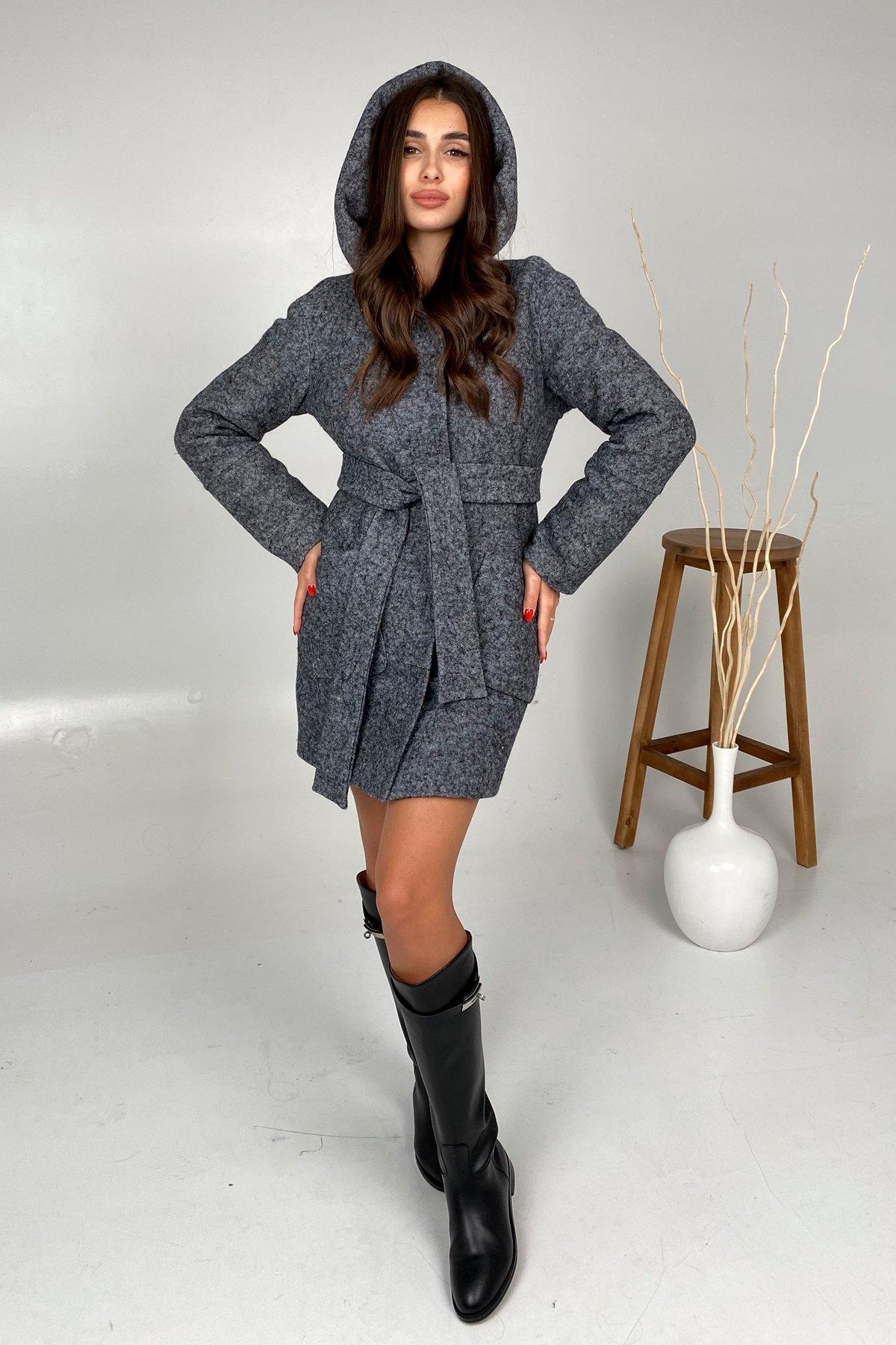 Анита шерсть варенка зима без меха пальто 9936 АРТ. 46225 Цвет: Серый Темный LW-47 - фото 3, интернет магазин tm-modus.ru