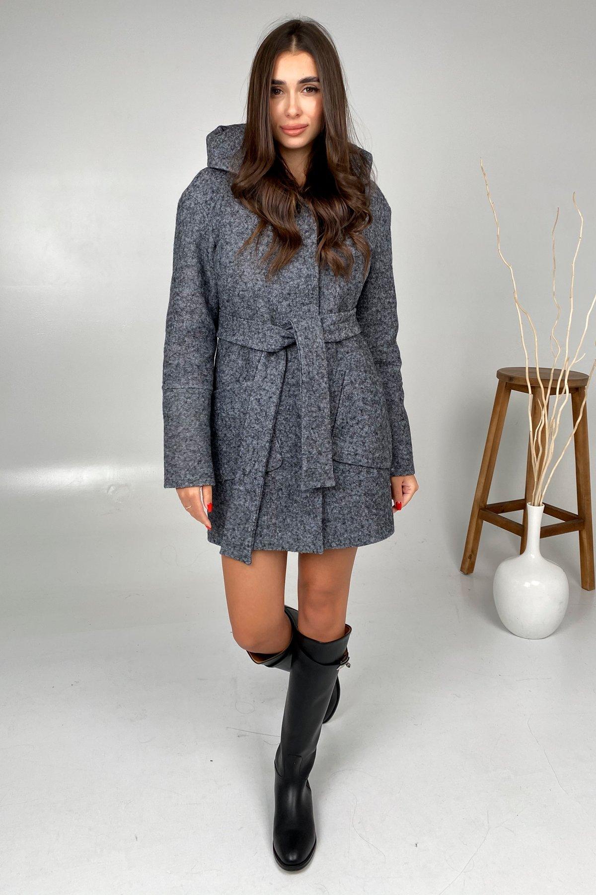 Анита шерсть варенка зима без меха пальто 9936 АРТ. 46225 Цвет: Серый Темный LW-47 - фото 5, интернет магазин tm-modus.ru