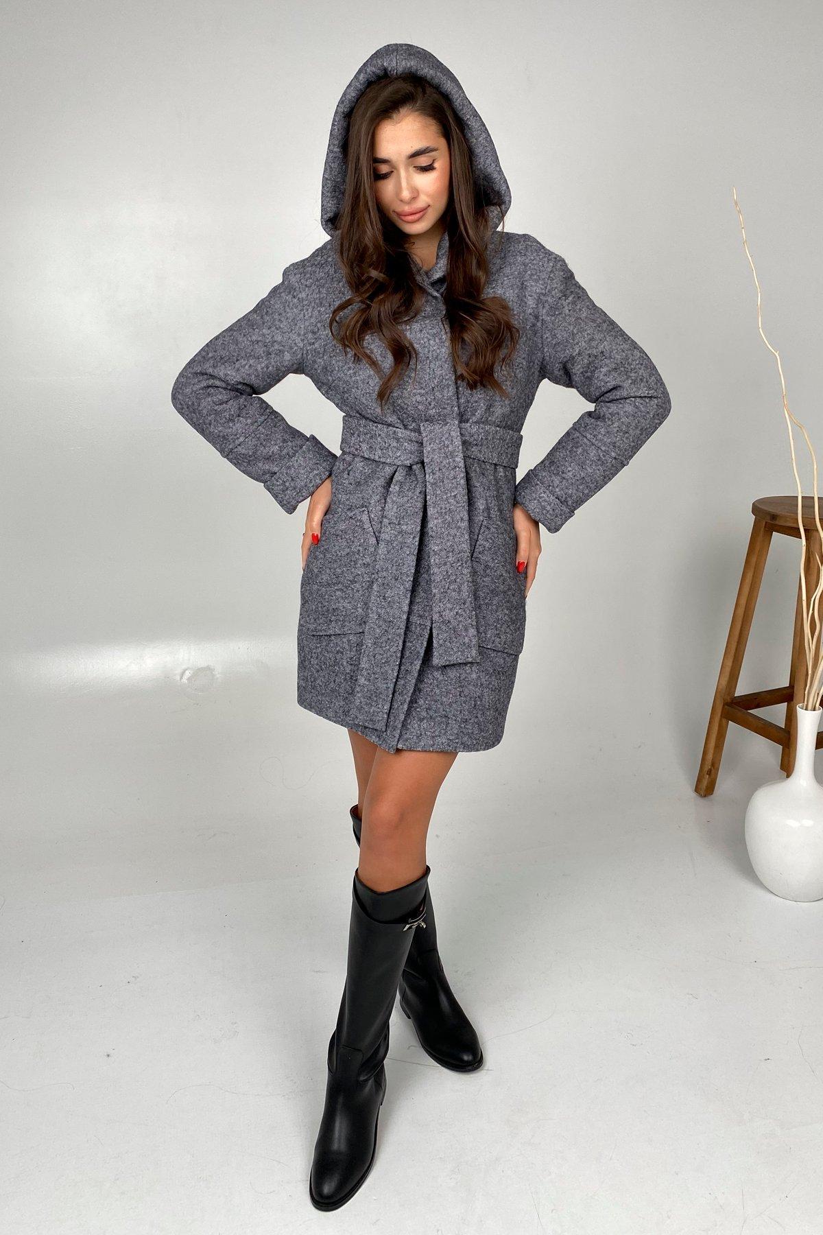 Анита шерсть варенка зима без меха пальто 9936 АРТ. 46224 Цвет: серый темный 5 - фото 2, интернет магазин tm-modus.ru