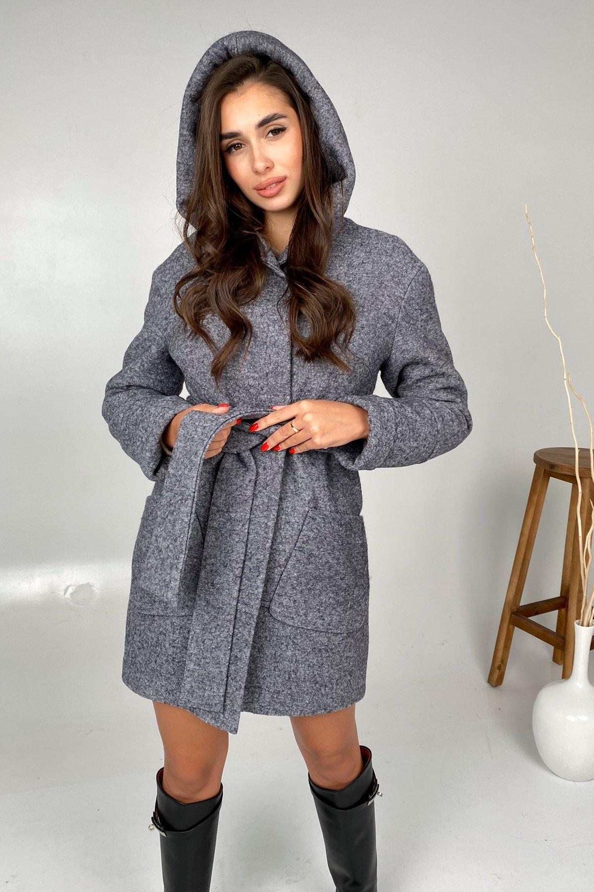Анита шерсть варенка зима без меха пальто 9936 АРТ. 46224 Цвет: серый темный 5 - фото 3, интернет магазин tm-modus.ru