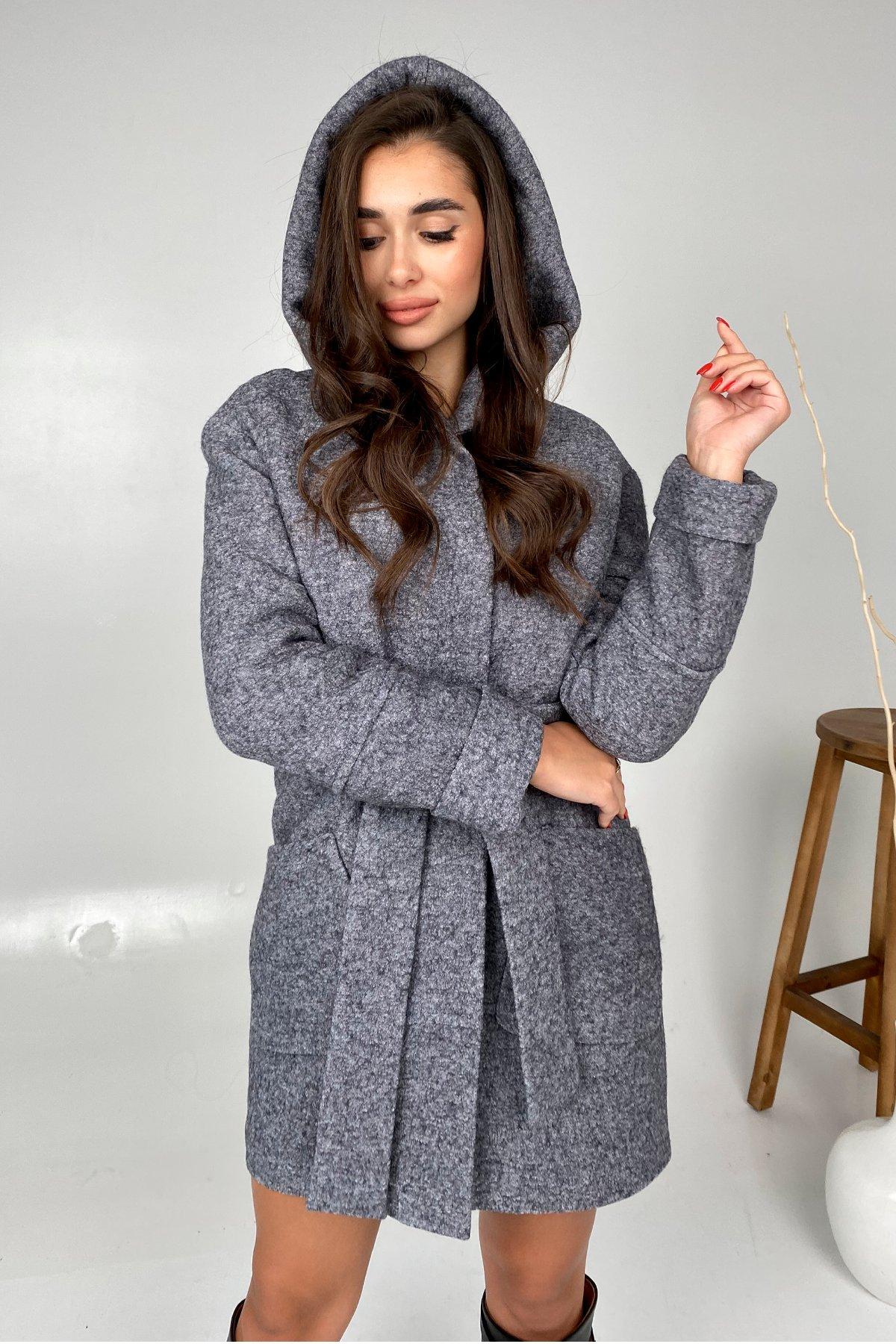 Анита шерсть варенка зима без меха пальто 9936 АРТ. 46224 Цвет: серый темный 5 - фото 4, интернет магазин tm-modus.ru