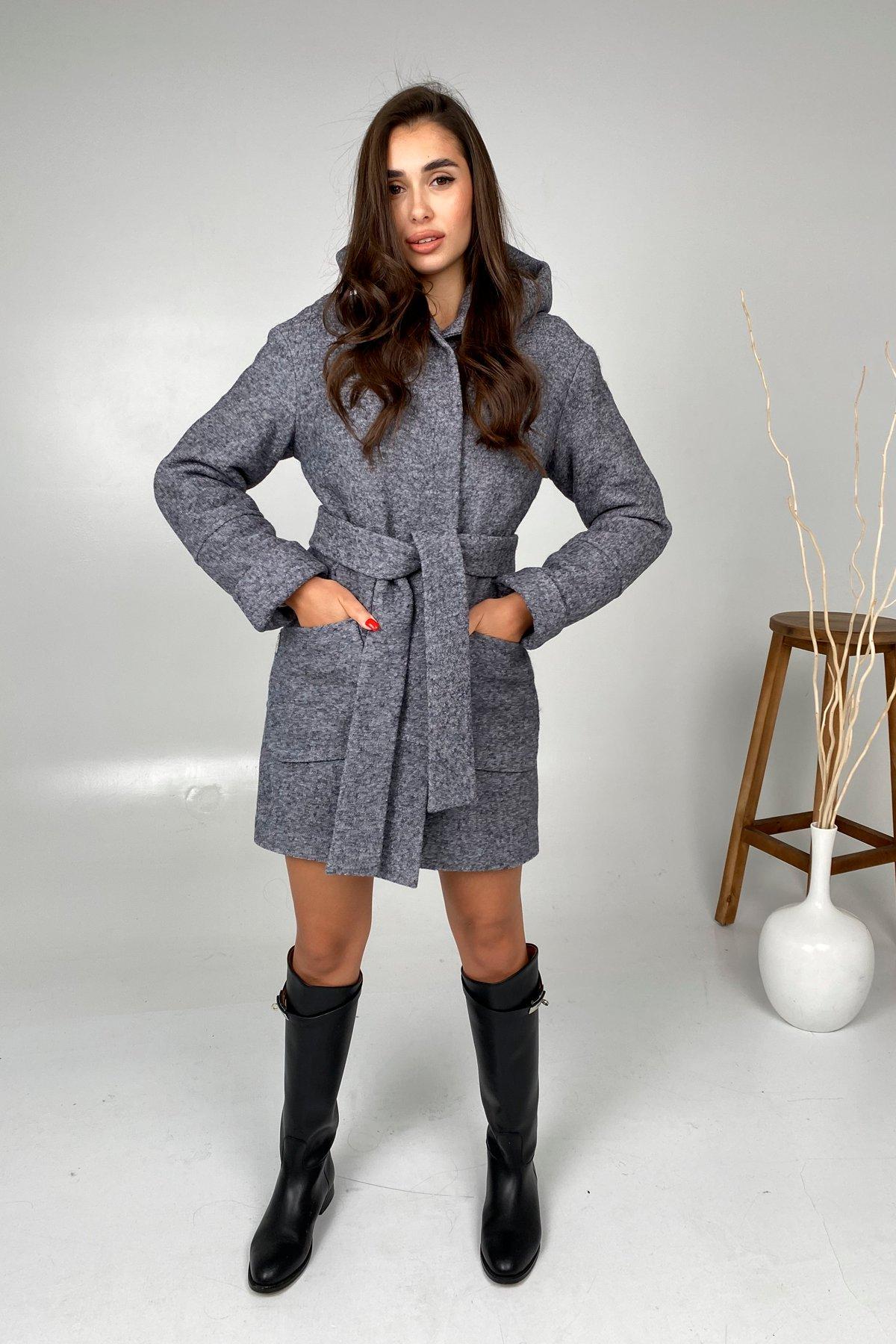 Анита шерсть варенка зима без меха пальто 9936 АРТ. 46224 Цвет: серый темный 5 - фото 5, интернет магазин tm-modus.ru