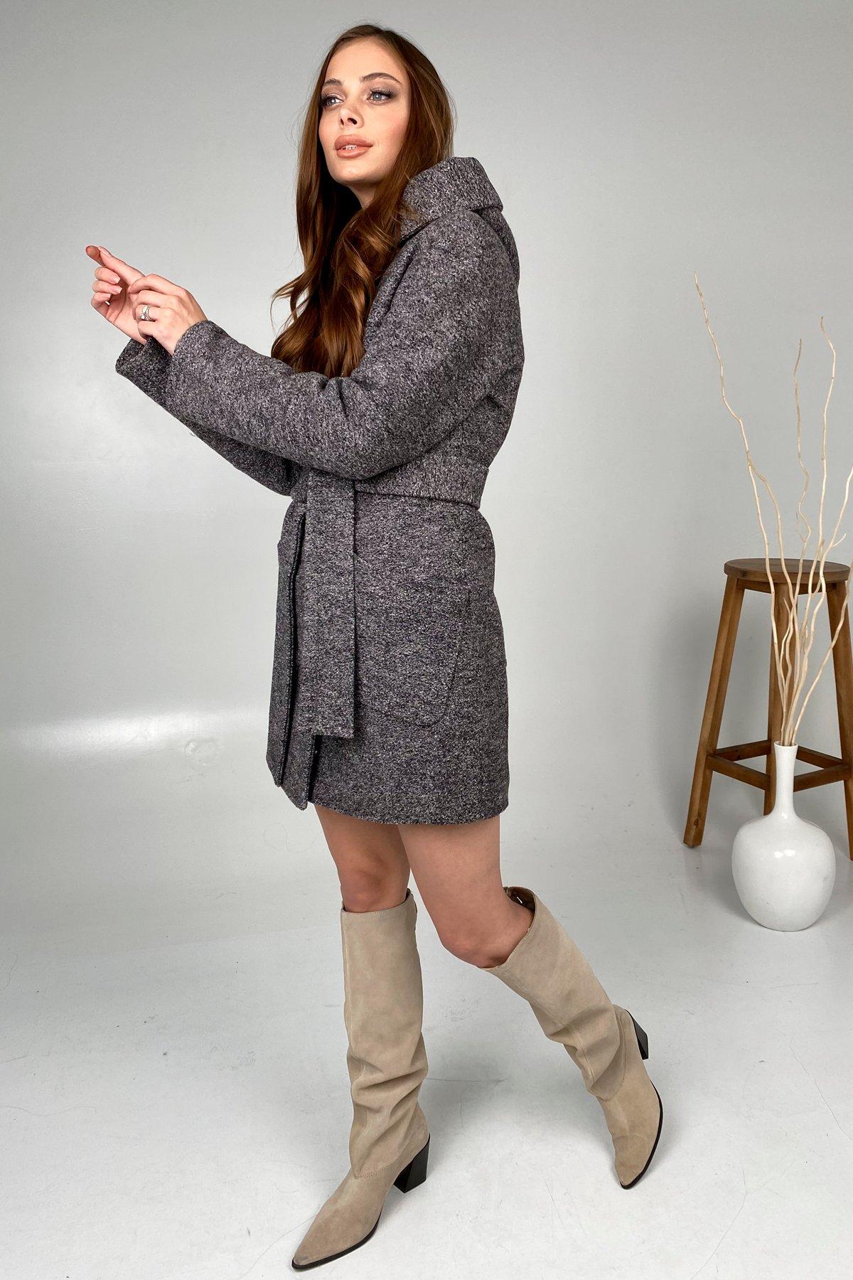 Анита шерсть варенка зима без меха пальто 9936 АРТ. 46221 Цвет: Черный/розовый 19 - фото 3, интернет магазин tm-modus.ru