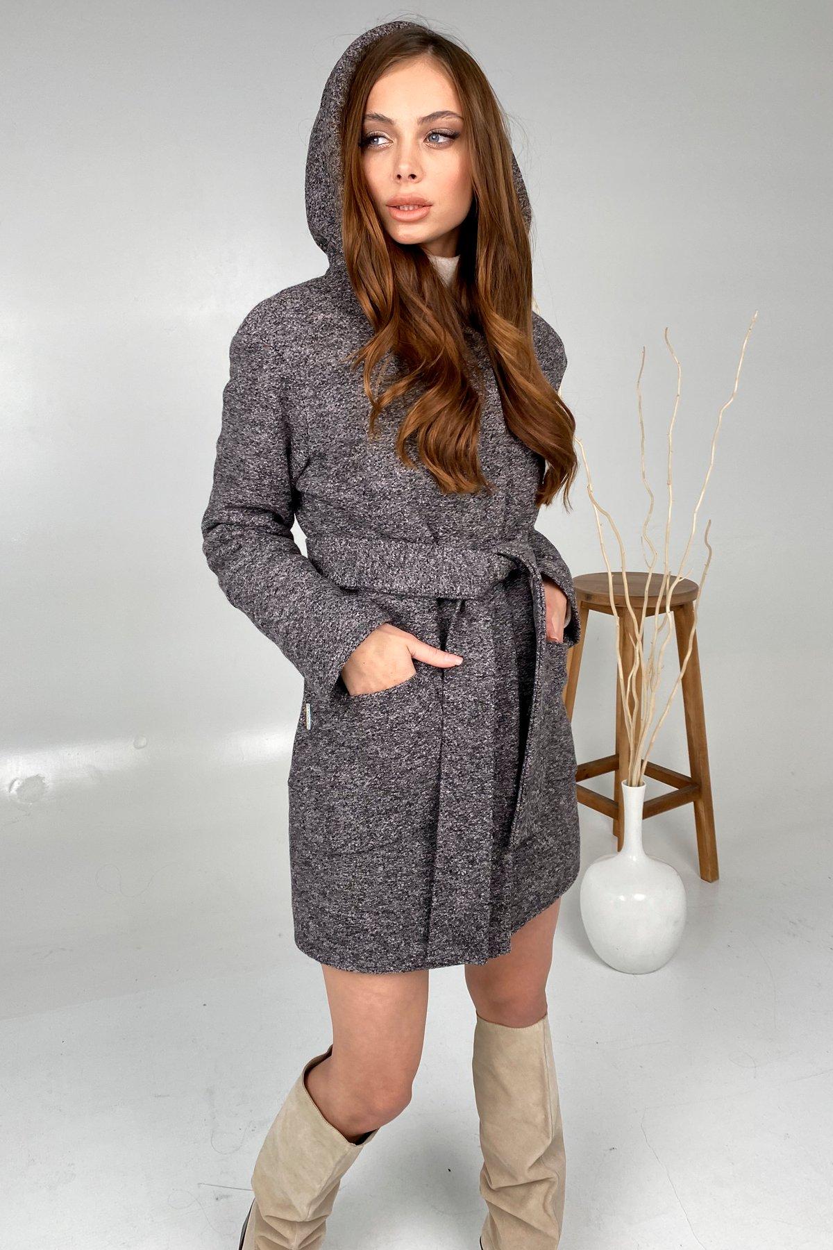 Анита шерсть варенка зима без меха пальто 9936 АРТ. 46221 Цвет: Черный/розовый 19 - фото 4, интернет магазин tm-modus.ru