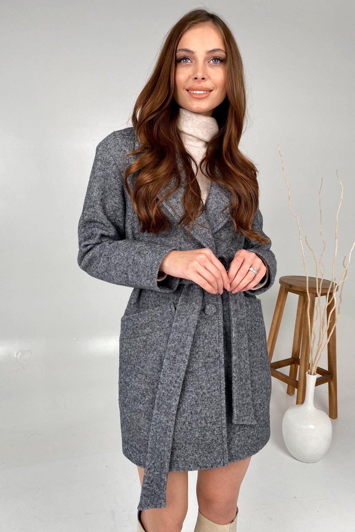 Вейсона шерсть варенка пальто 9825 АРТ. 46290 Цвет: Серый - фото 3, интернет магазин tm-modus.ru