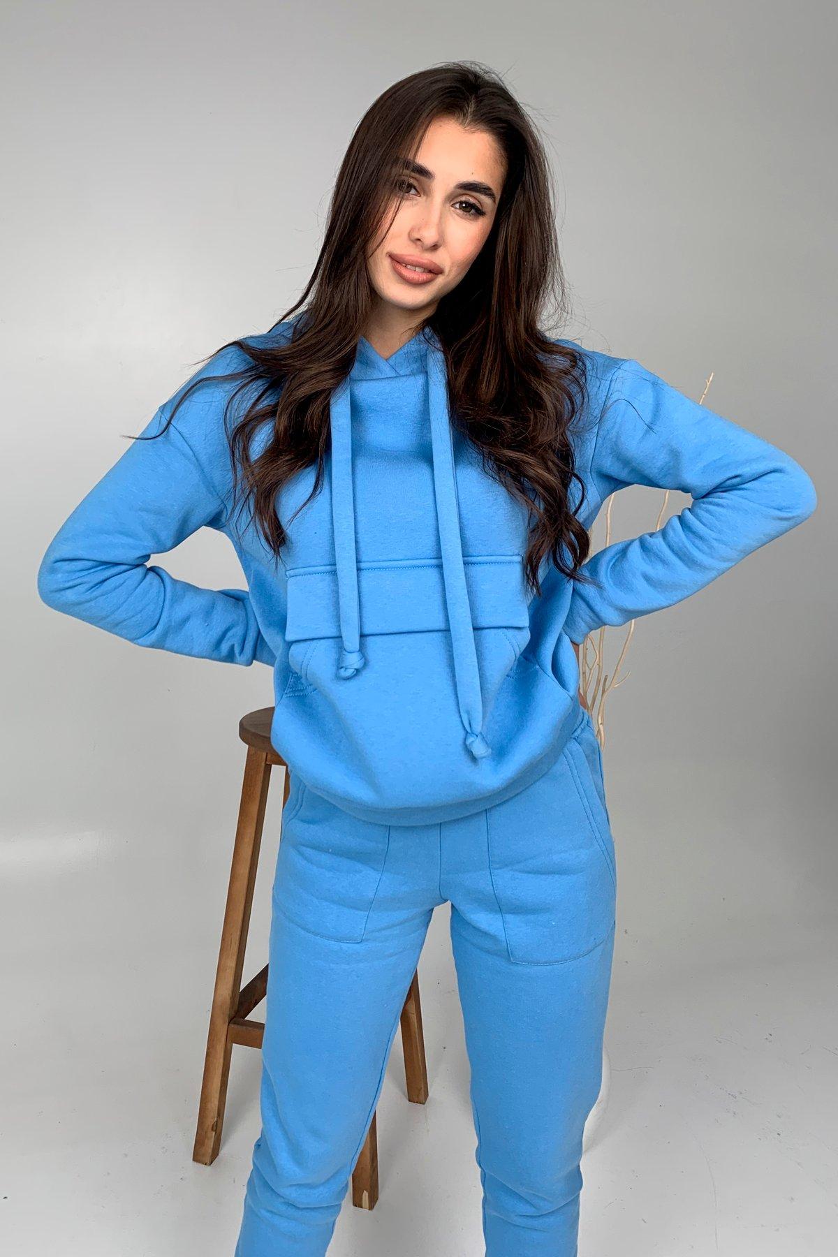 Бруклин  прогулочный костюм 3х нитка с начесом  9663 АРТ. 46462 Цвет: Голубой 1 - фото 1, интернет магазин tm-modus.ru