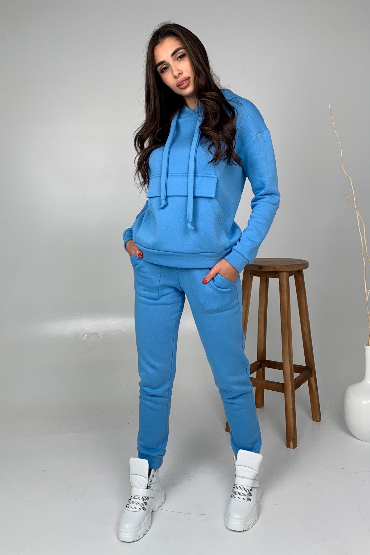 Бруклин  прогулочный костюм 3х нитка с начесом  9663 АРТ. 46462 Цвет: Голубой 1 - фото 3, интернет магазин tm-modus.ru