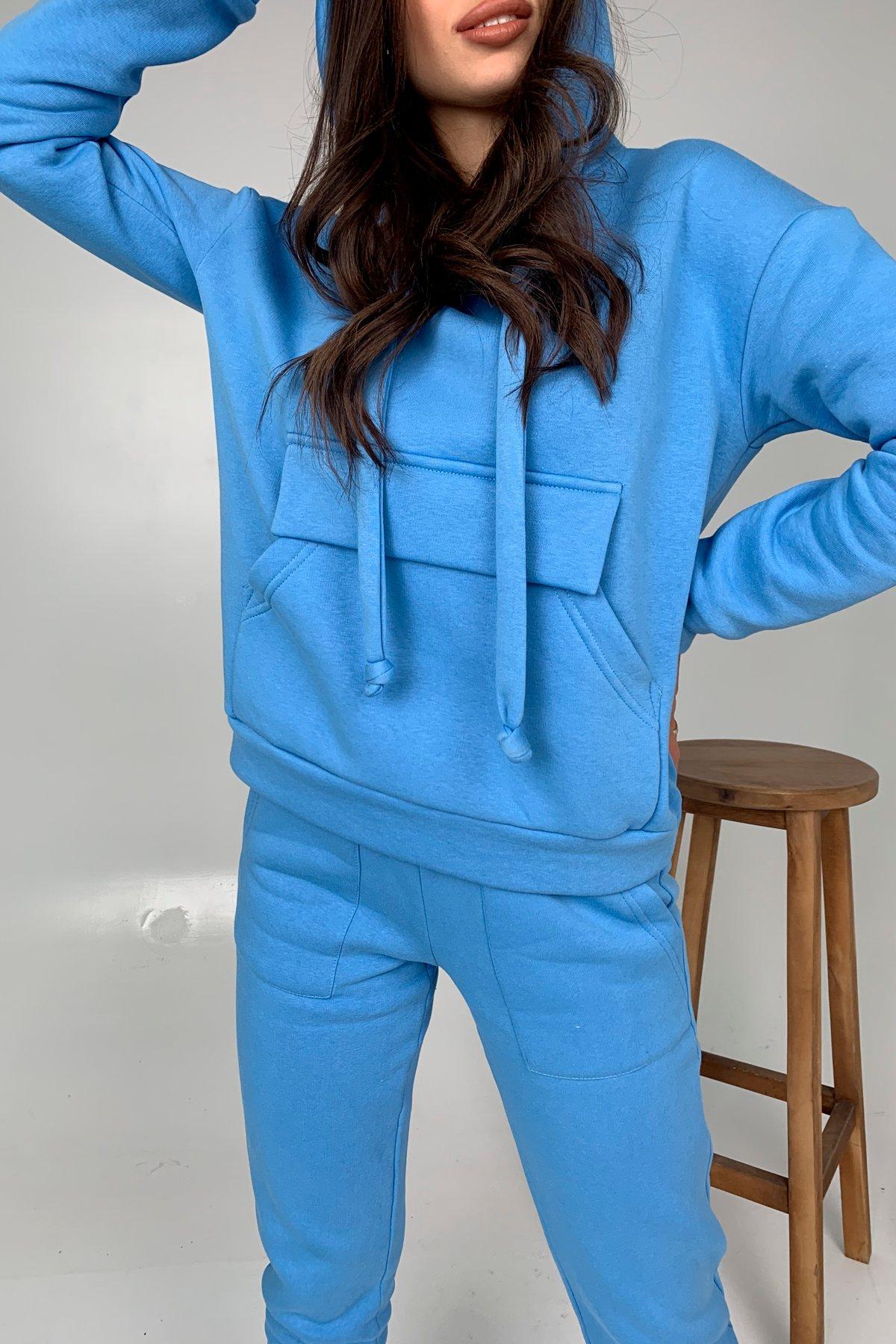 Бруклин  прогулочный костюм 3х нитка с начесом  9663 АРТ. 46462 Цвет: Голубой 1 - фото 5, интернет магазин tm-modus.ru