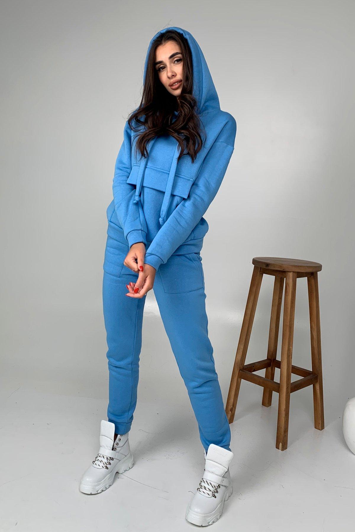 Бруклин  прогулочный костюм 3х нитка с начесом  9663 АРТ. 46462 Цвет: Голубой 1 - фото 6, интернет магазин tm-modus.ru