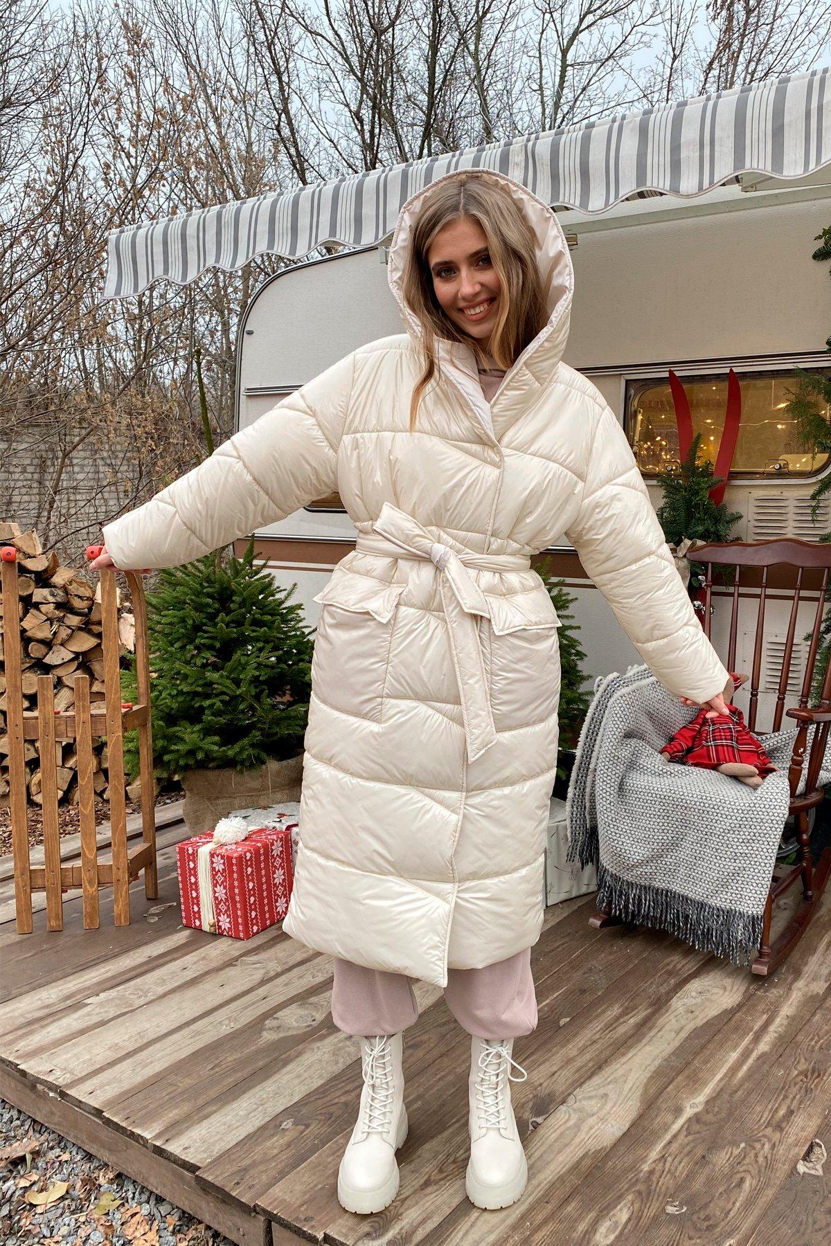 женские куртки оптом Блу теплый пуховик из  плащевой ткани 10260