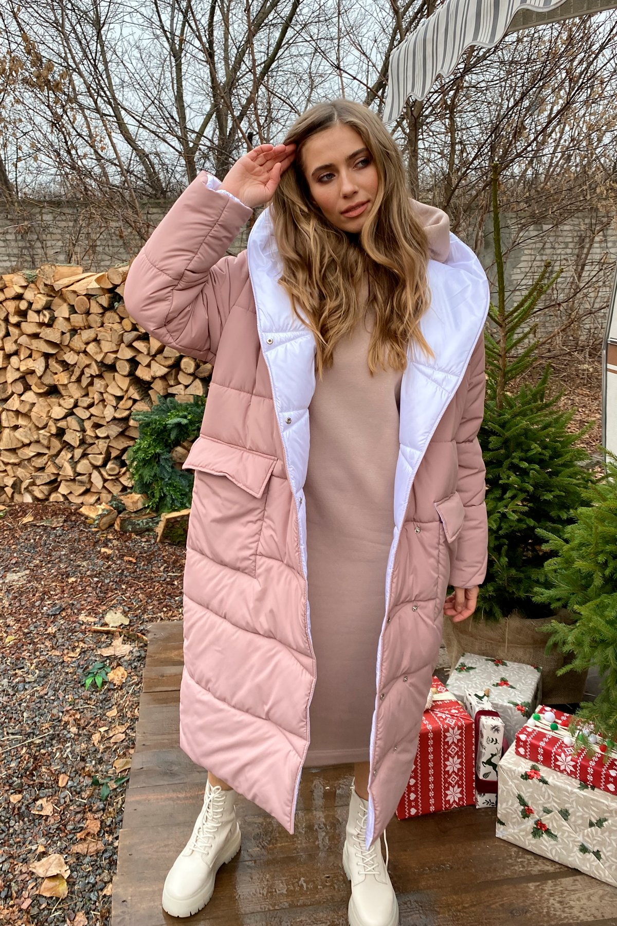 куртки оптом Украина  Блу теплый пуховик из  плащевой ткани 10260