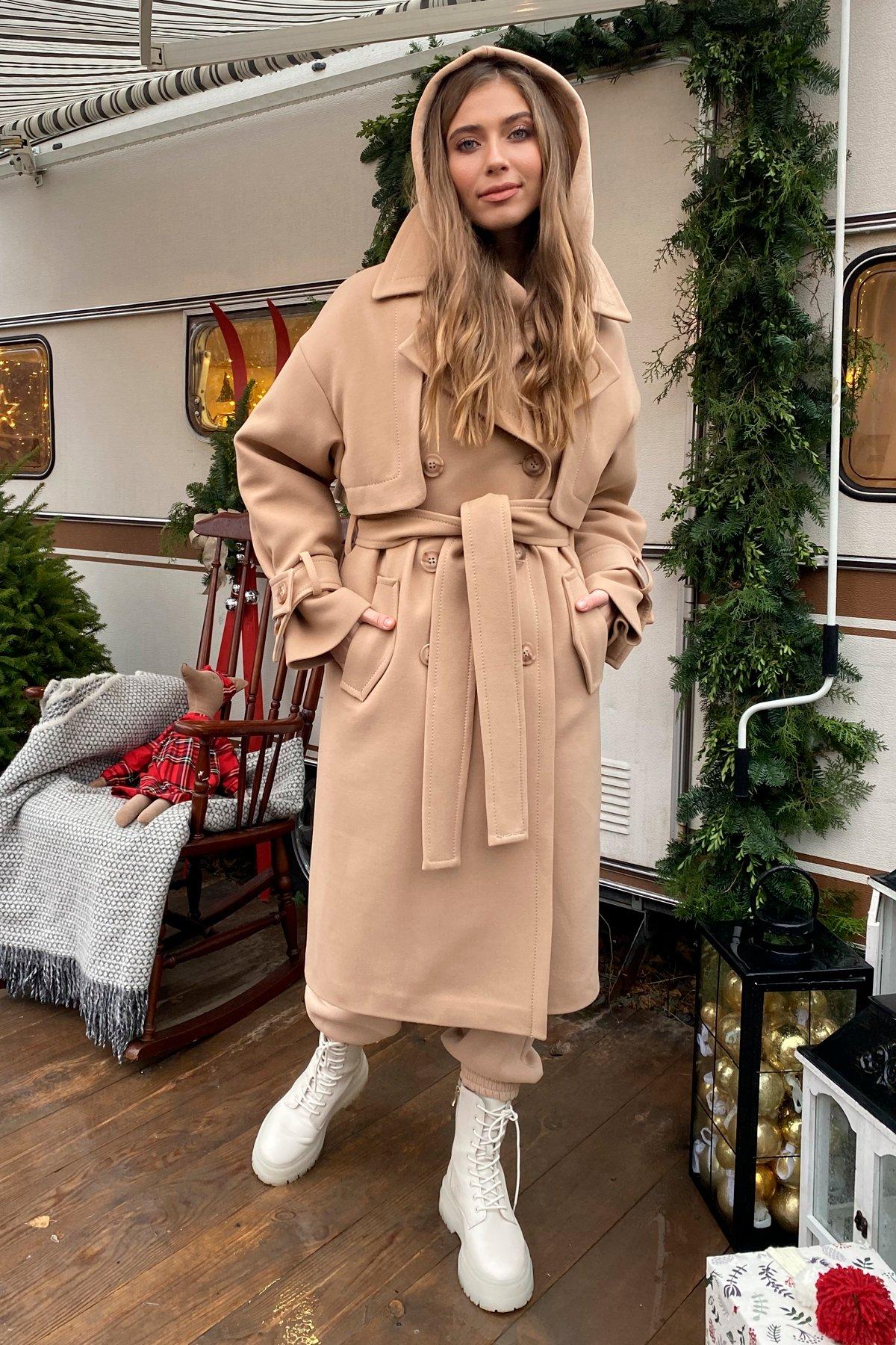 Твин макси кашемир турецкий пальто 10169 АРТ. 46459 Цвет: Кемел - фото 11, интернет магазин tm-modus.ru
