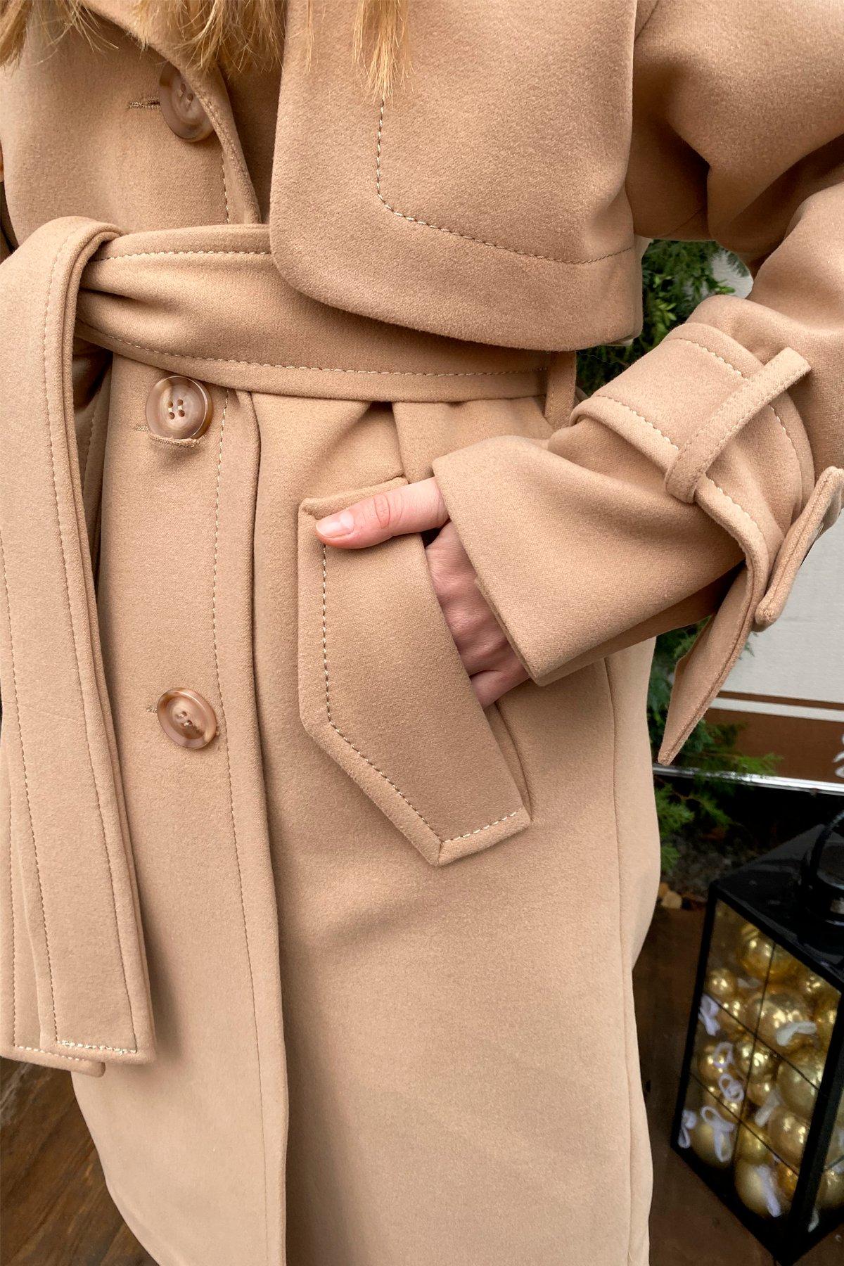 Твин макси кашемир турецкий пальто 10169 АРТ. 46459 Цвет: Кемел - фото 13, интернет магазин tm-modus.ru