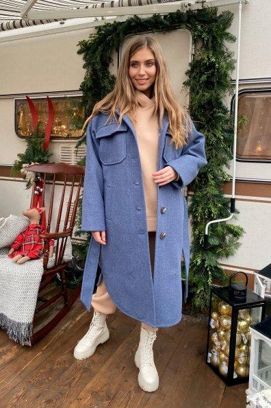 """Купить """" Ола памела """" зимнее пальто  с шарфом 10215 оптом и в розницу"""