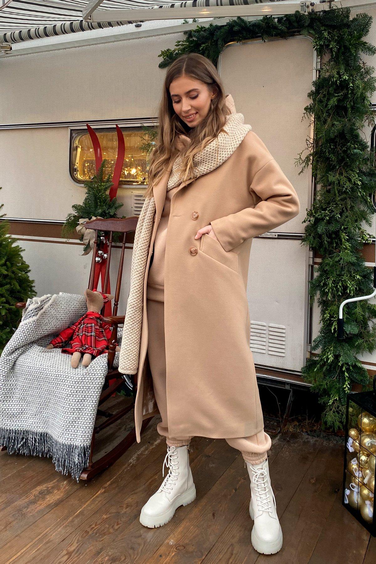 Сенсей макси кашемир турецкий зима пальто 10041 АРТ. 46335 Цвет: Кемел - фото 1, интернет магазин tm-modus.ru