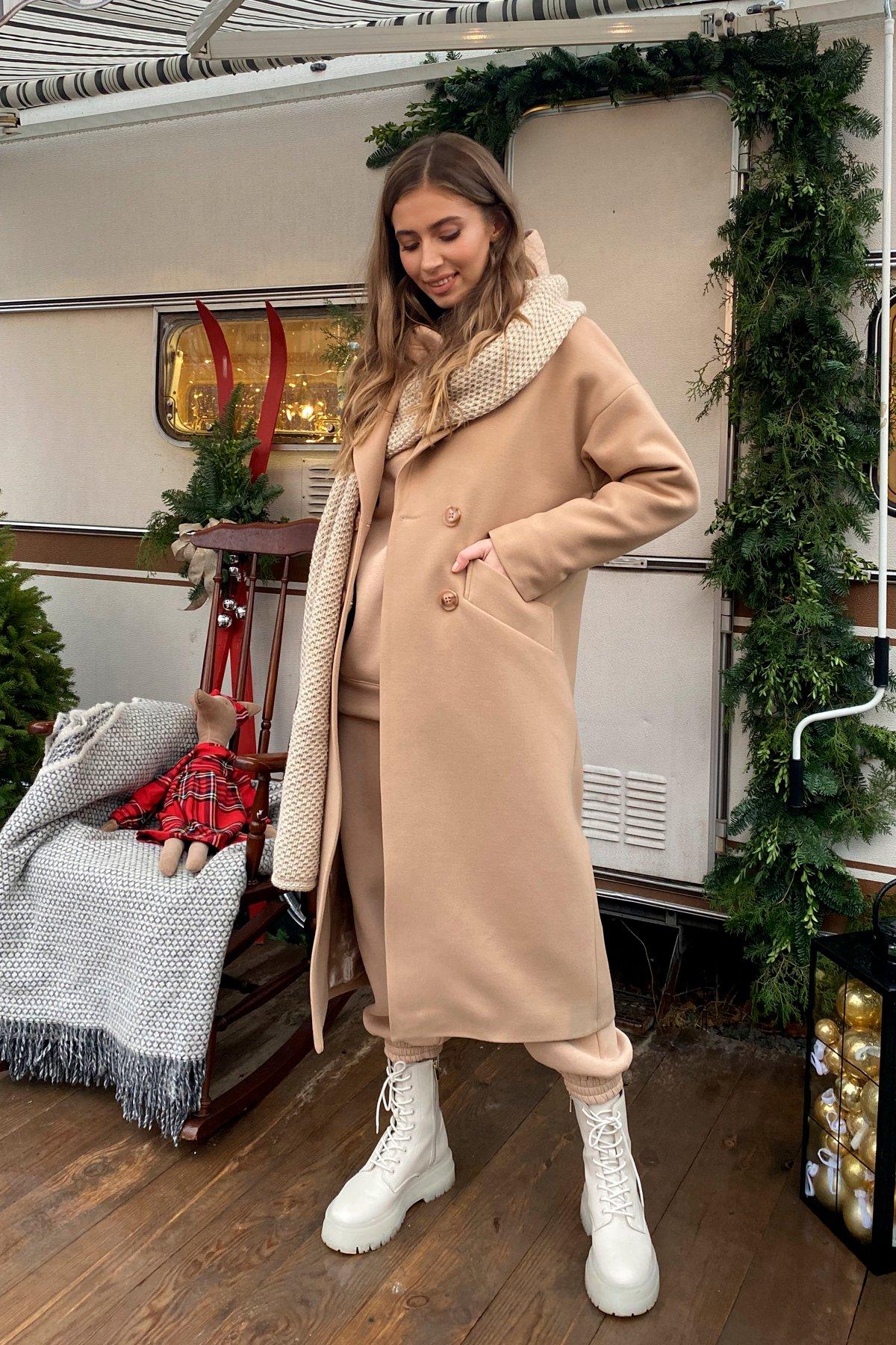 Сенсей макси кашемир турецкий зима пальто 10041 АРТ. 46335 Цвет: Кемел - фото 2, интернет магазин tm-modus.ru