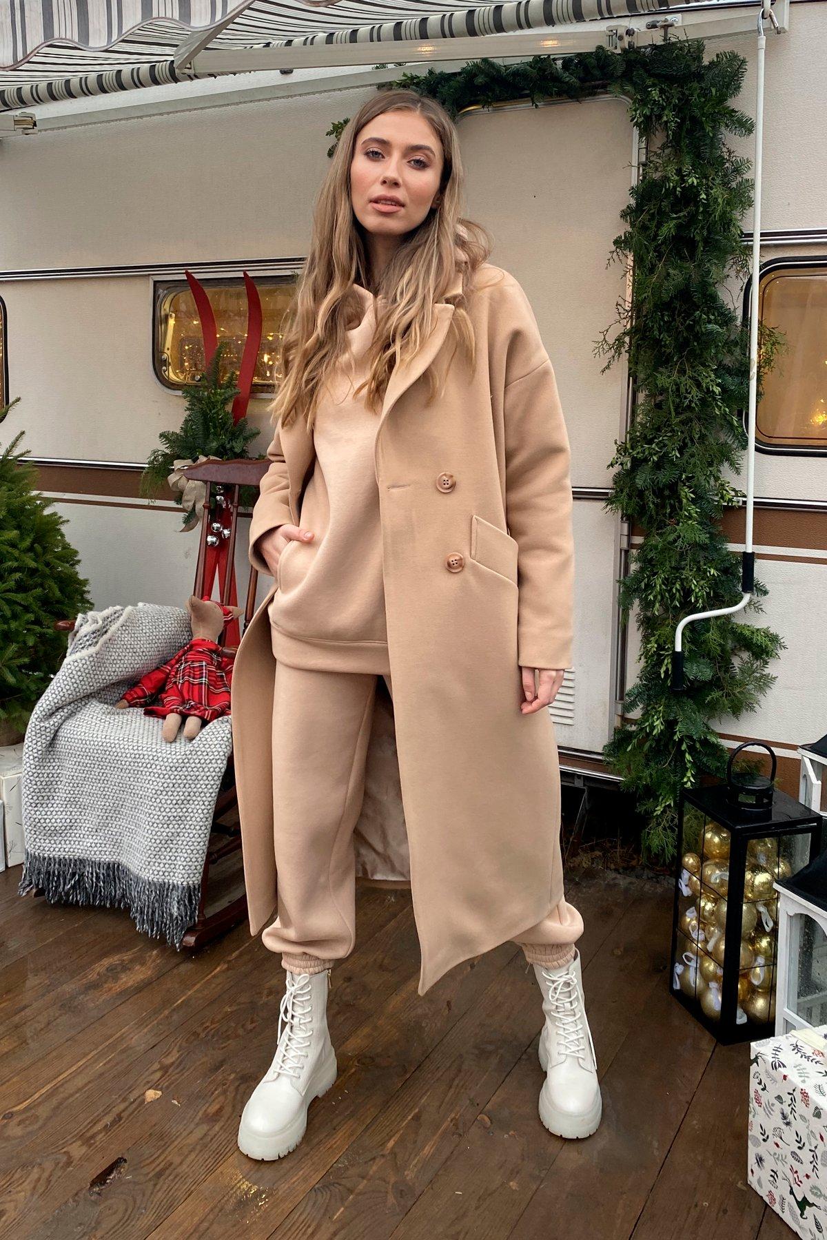 Сенсей макси кашемир турецкий зима пальто 10041 АРТ. 46335 Цвет: Кемел - фото 5, интернет магазин tm-modus.ru