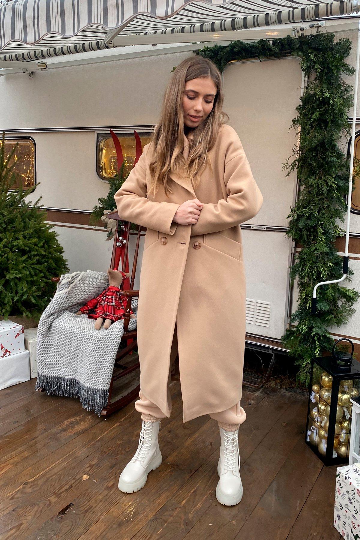 Сенсей макси кашемир турецкий зима пальто 10041 АРТ. 46335 Цвет: Кемел - фото 6, интернет магазин tm-modus.ru
