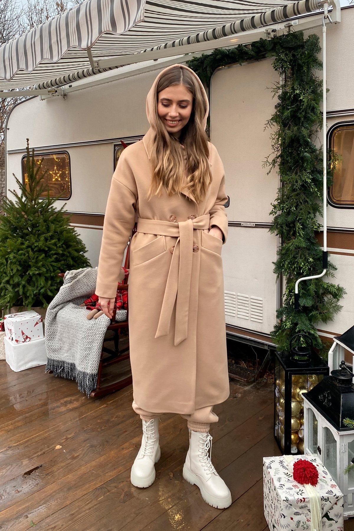 Сенсей макси кашемир турецкий зима пальто 10041 АРТ. 46335 Цвет: Кемел - фото 8, интернет магазин tm-modus.ru