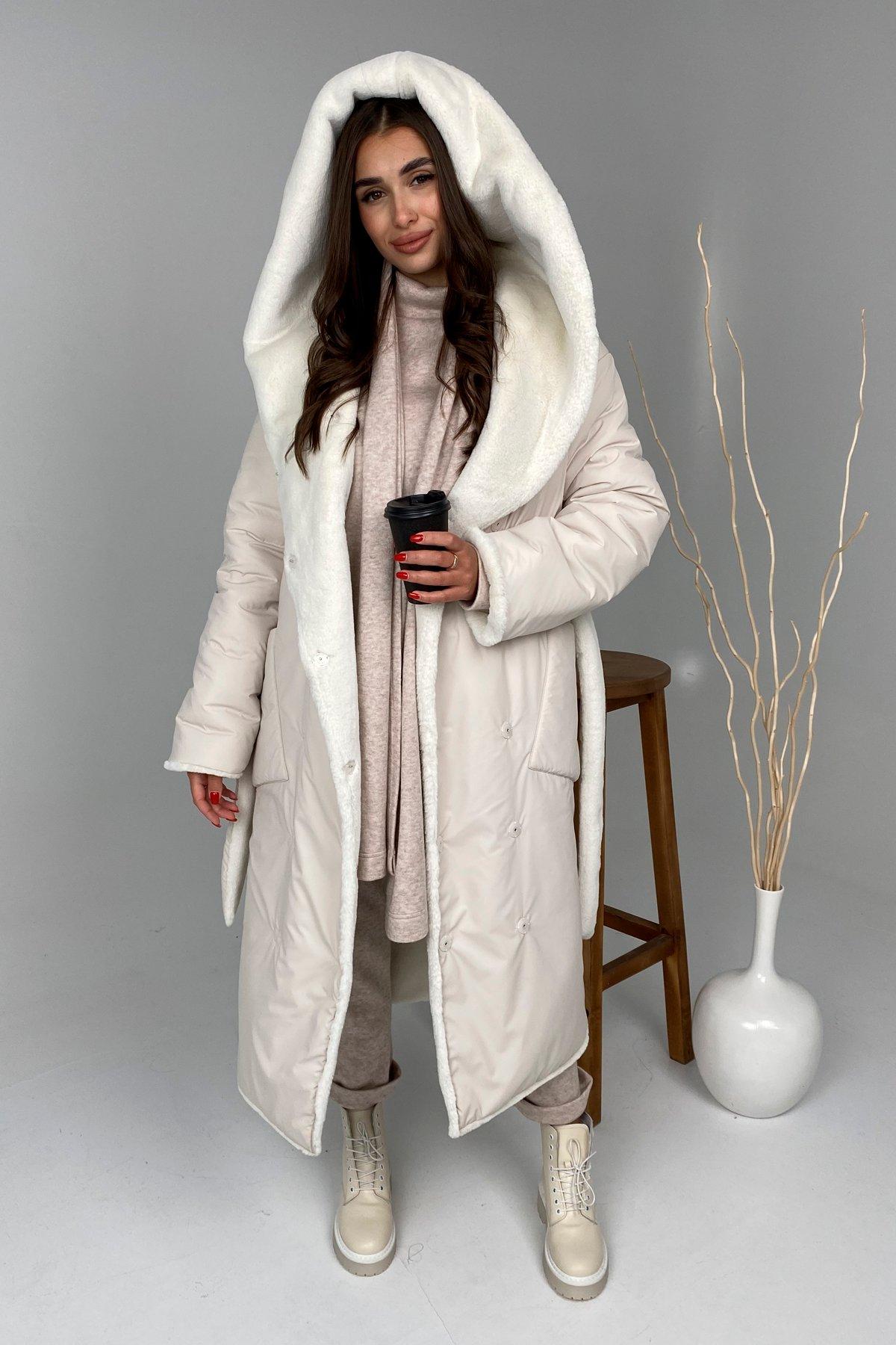 Заказать пальто оптом от Modus Сноу  теплое двухстороннее пальто из  еко меха и плотной  плащевки 9956