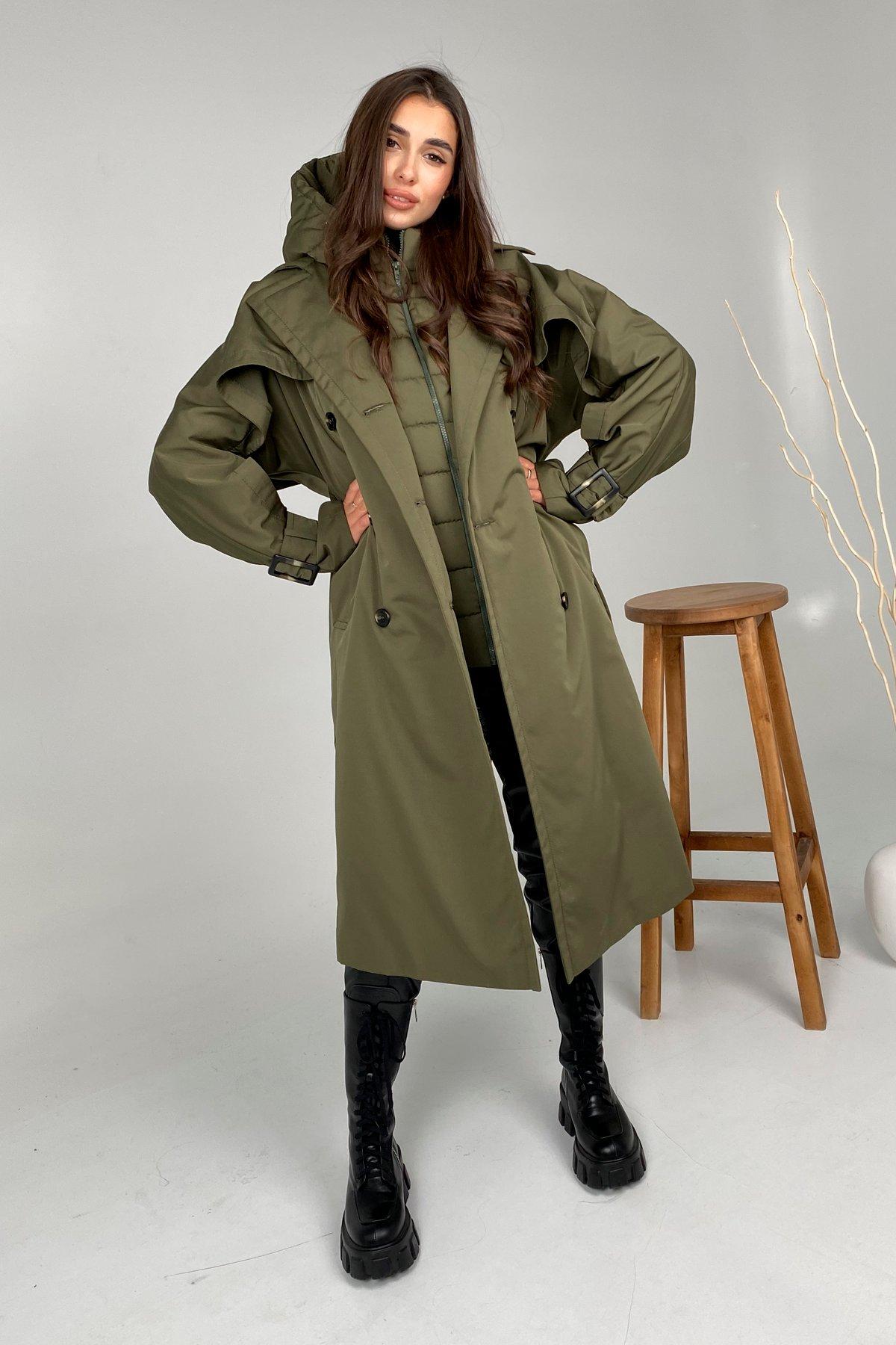 Демисезонное пальто от производителя Modus Шик тренч плотный однотонный   Желет 10300