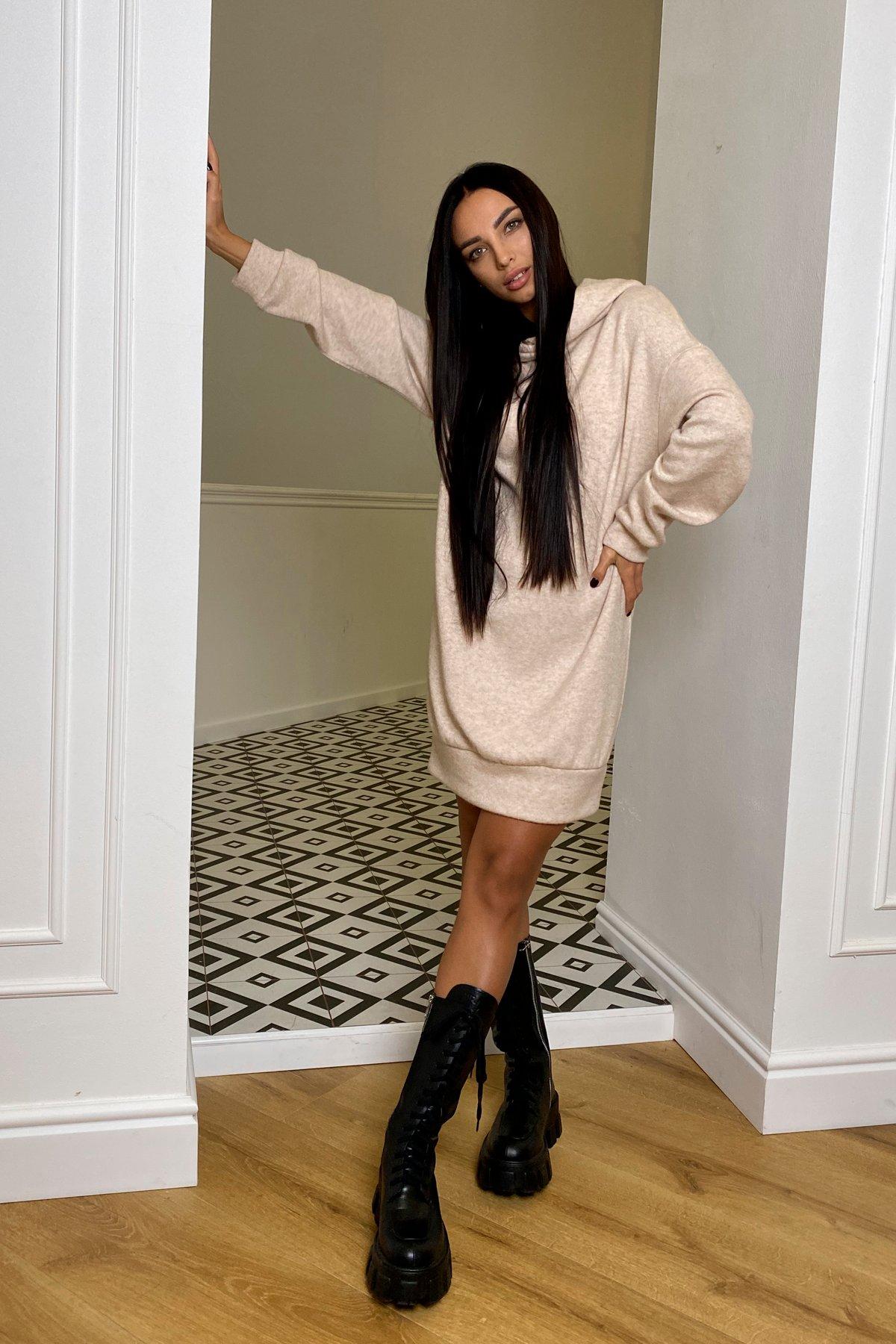 Дея  платье трикотажное из ангоры 10071 АРТ. 46383 Цвет: Бежевый 2 - фото 4, интернет магазин tm-modus.ru