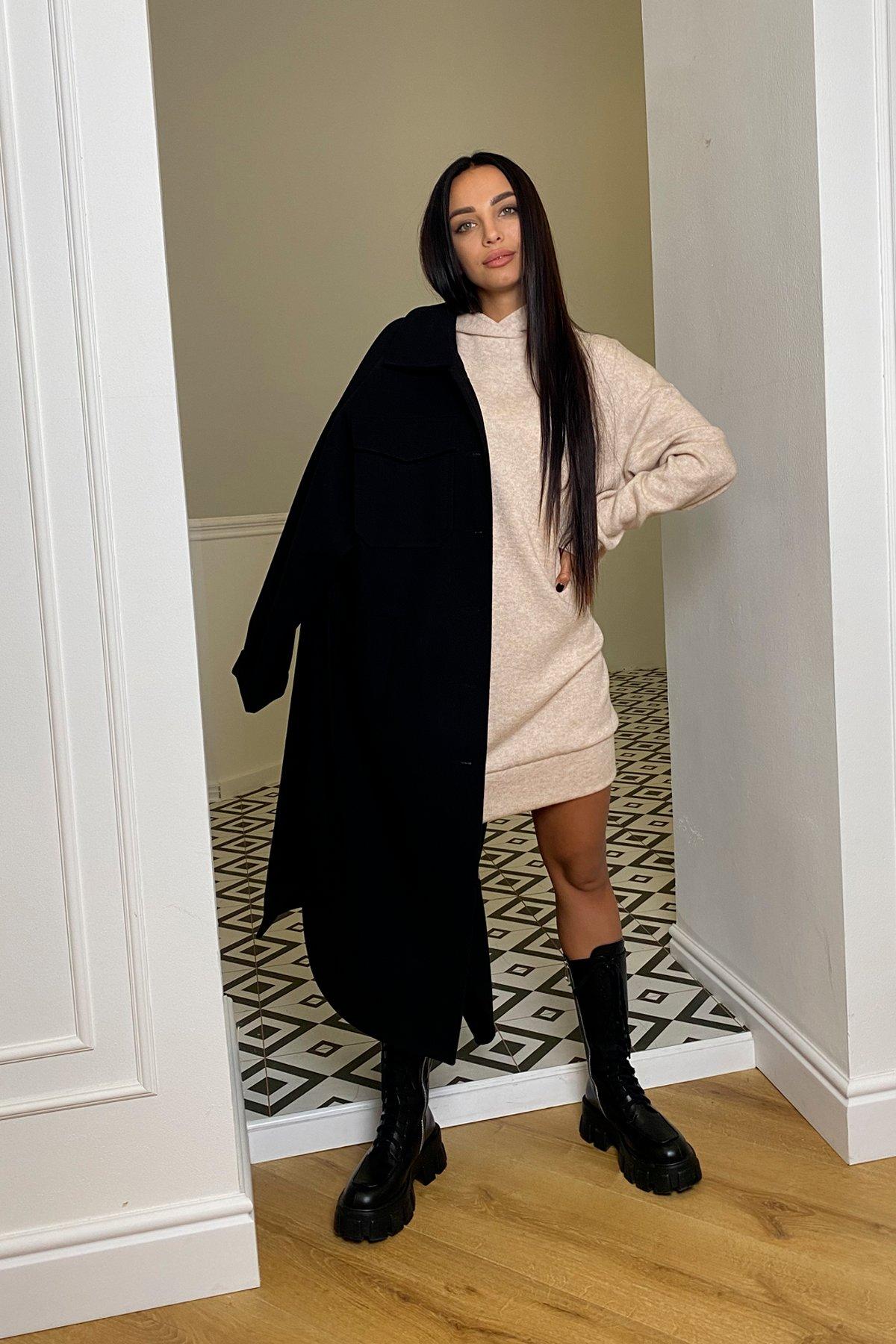 Дея  платье трикотажное из ангоры 10071 АРТ. 46383 Цвет: Бежевый 2 - фото 6, интернет магазин tm-modus.ru
