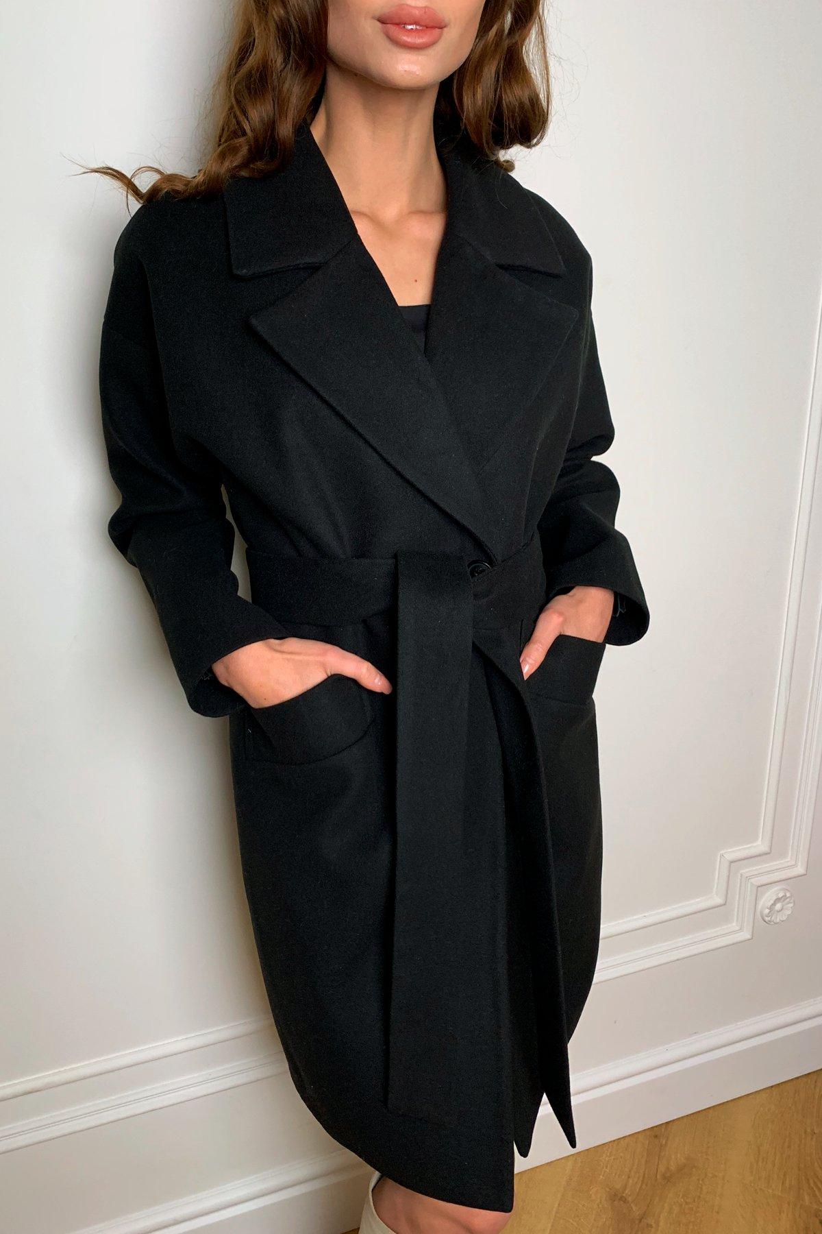 Пальто Сенсей 9767 АРТ. 46070 Цвет: Черный - фото 2, интернет магазин tm-modus.ru
