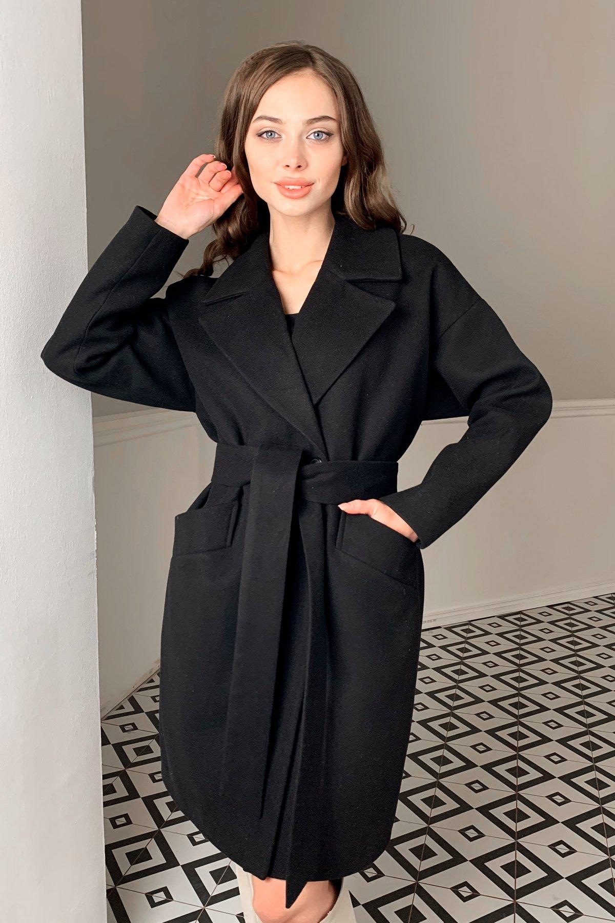 Пальто Сенсей 9767 АРТ. 46070 Цвет: Черный - фото 4, интернет магазин tm-modus.ru