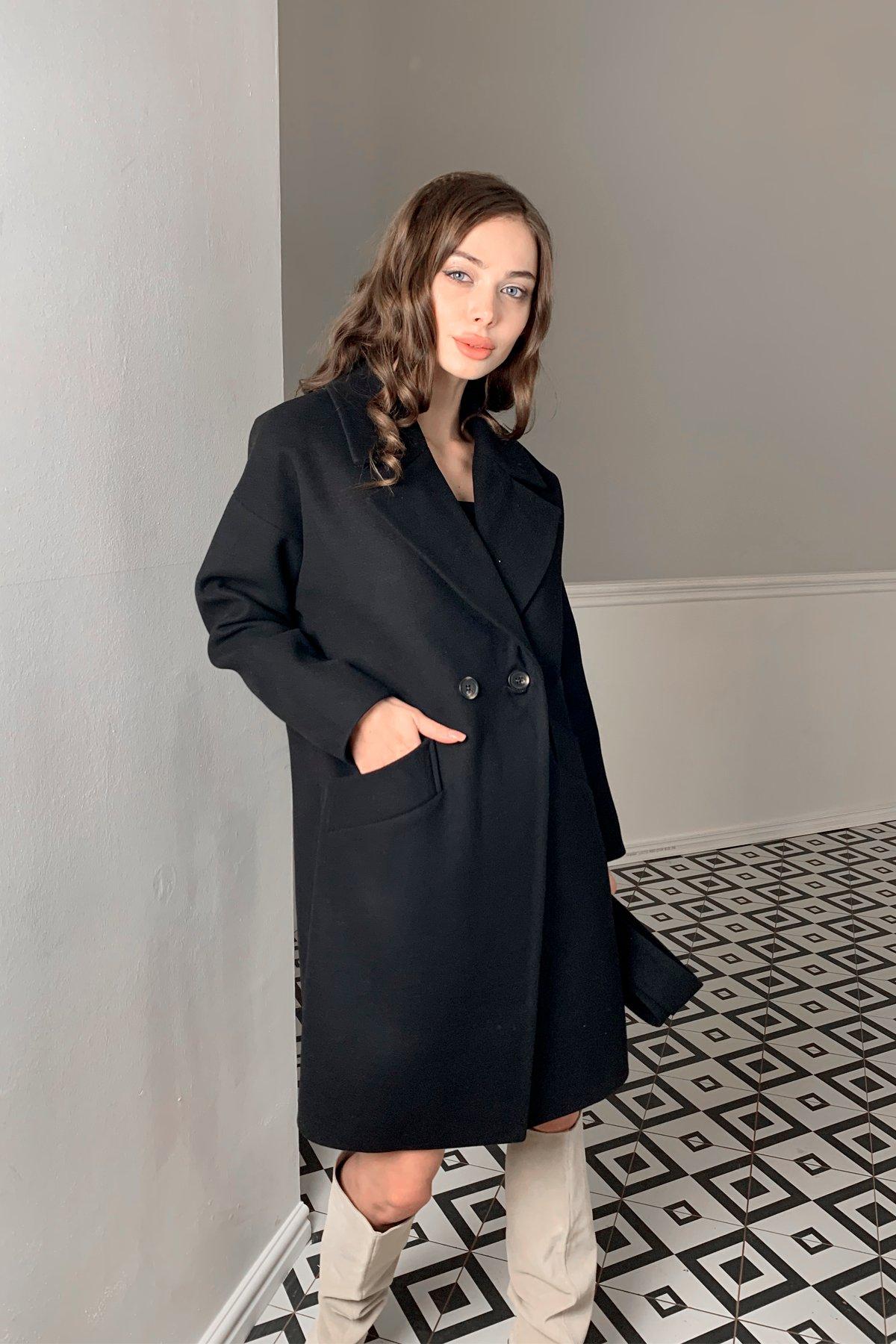 Пальто Сенсей 9767 АРТ. 46070 Цвет: Черный - фото 5, интернет магазин tm-modus.ru